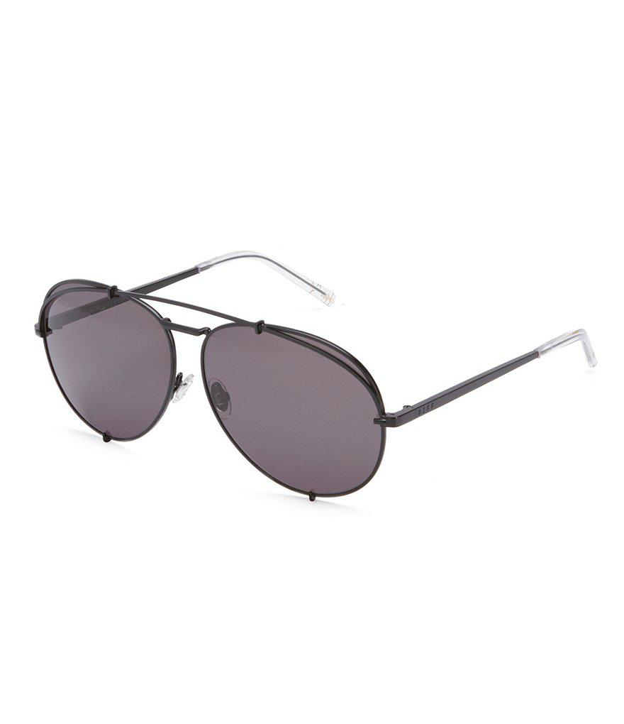 ac05cdd82cf1a Lyst - DIFF Khloe Kardashian Koko Mirror Lens Aviator Sunglasses