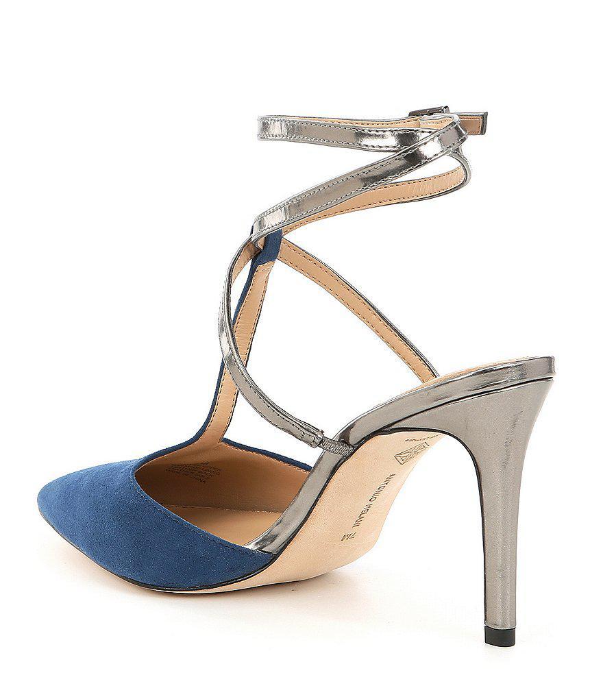 Antonio Melani Molone Suede Ankle Strap Dress Pumps nckcuwb