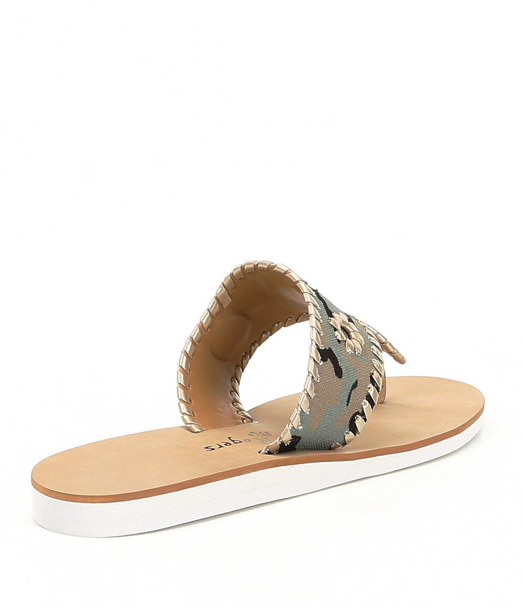 1b441b543bdbf Jack Rogers Captiva Camo Printed Sandals - Lyst