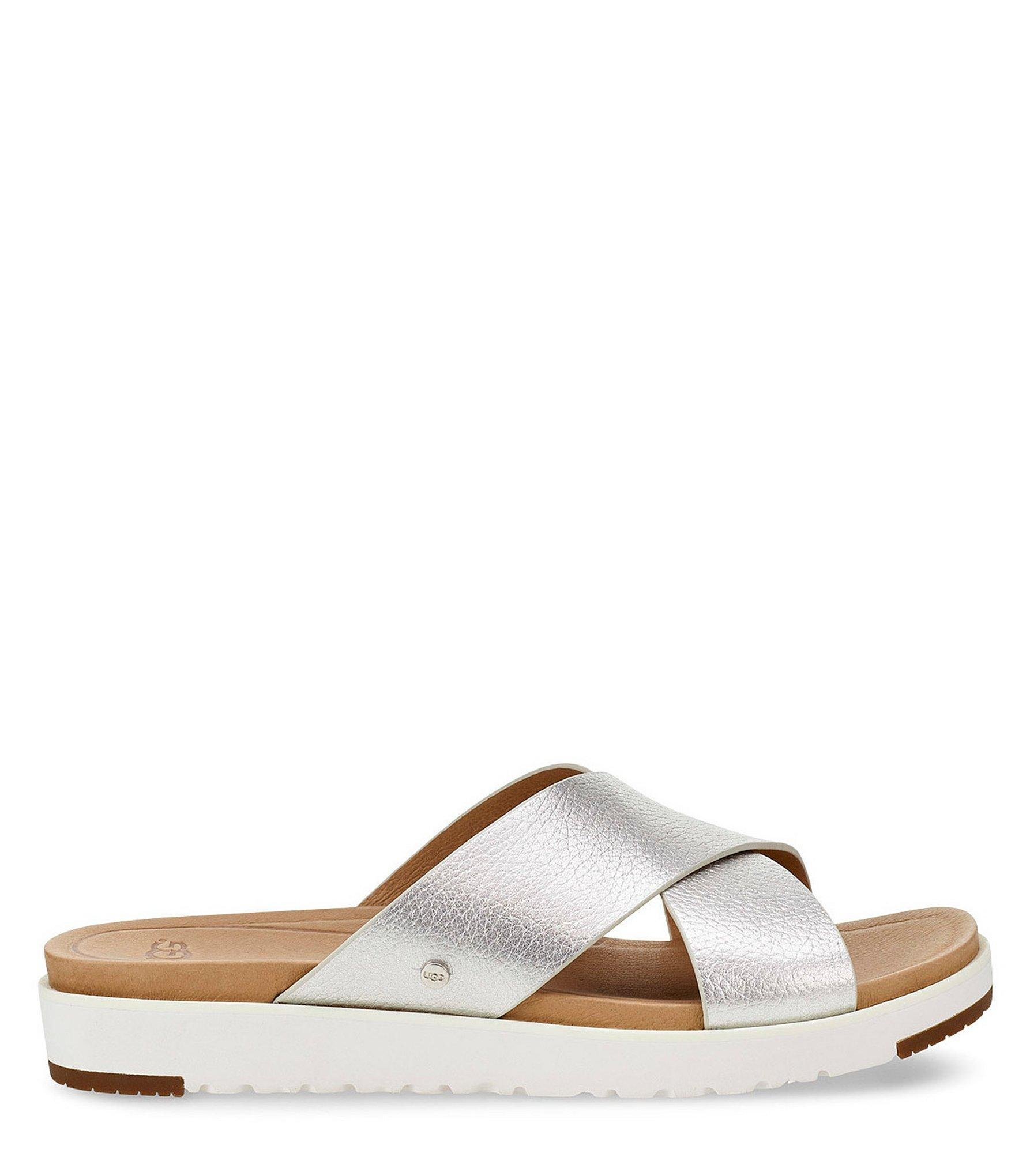 281b3ea8e39 Lyst - UGG Kari Metallic Slides in Metallic