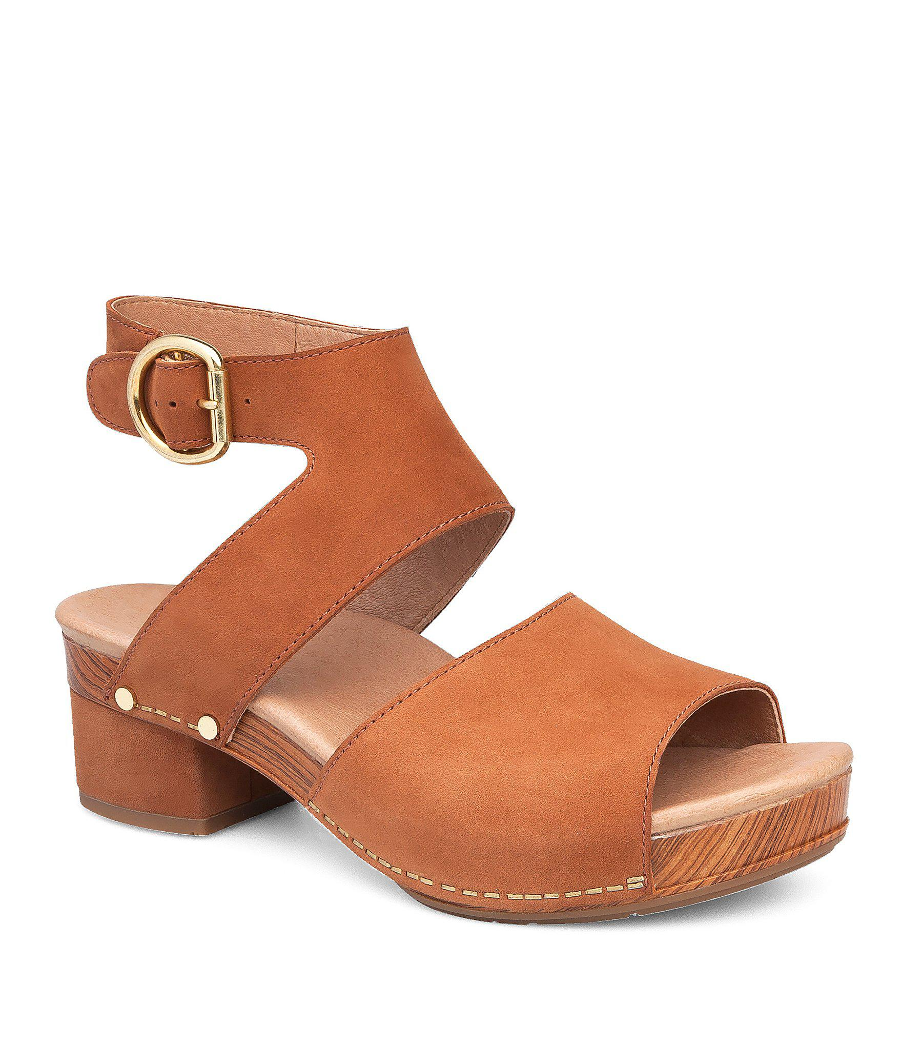 928aff5ff1c8 Lyst - Dansko Minka Nubuck Sandals in Brown