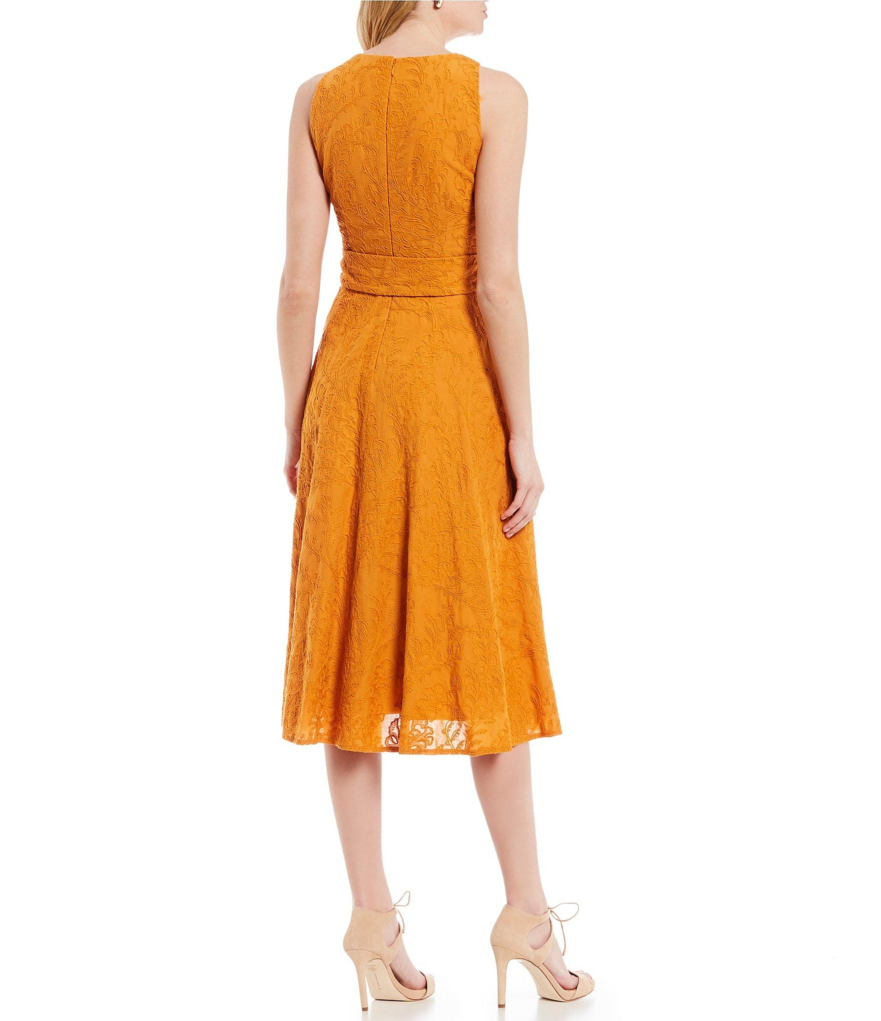 d89854e6fd9 Antonio Melani - Orange Kalin Sleeveless Tie Waist Midi Dress - Lyst. View  fullscreen