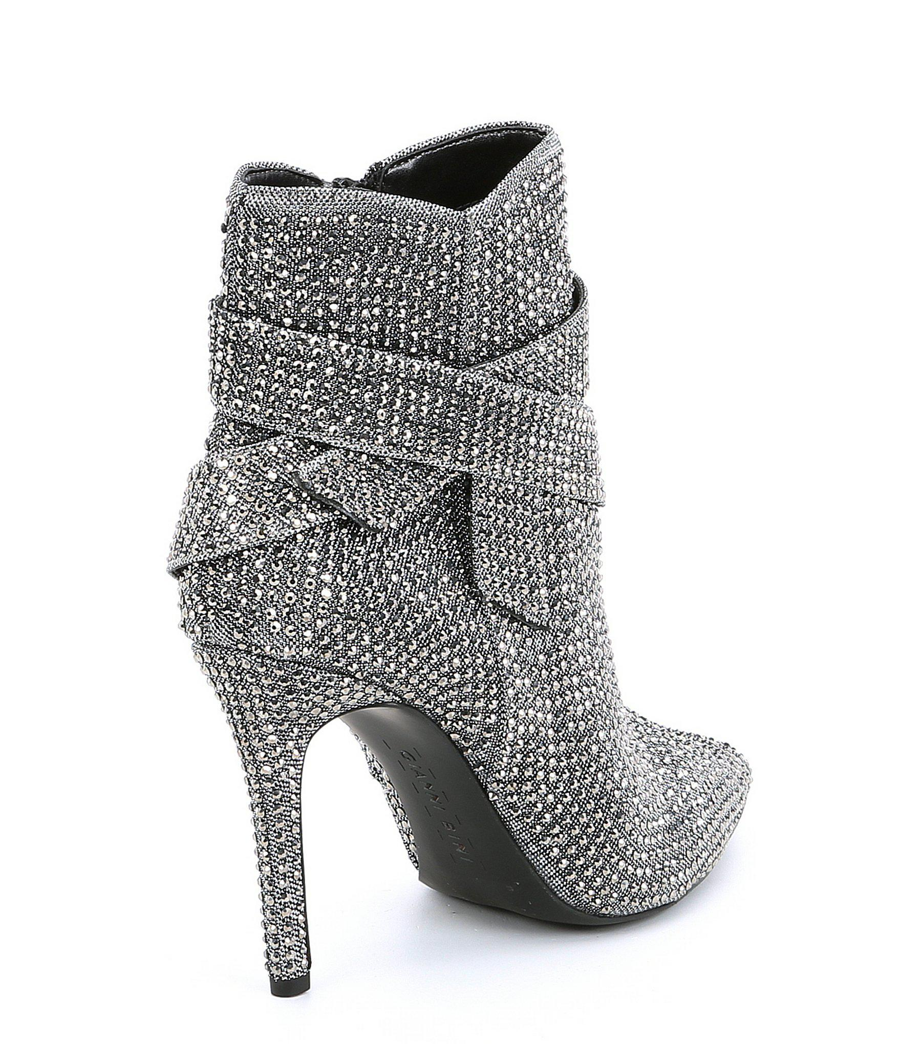 526a526fefa Lyst gianni bini vinya jeweled bow dress booties in gray jpg 1760x2040 Gianni  bini dress boots