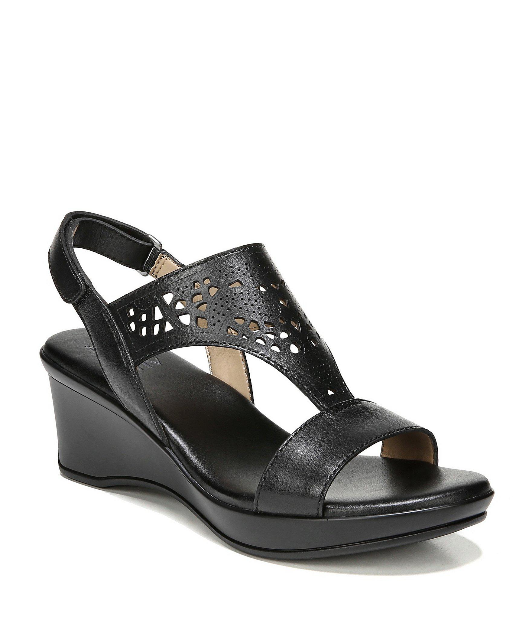 50dc81c669f Lyst - Naturalizer Veda Wedge Sandals in Black - Save 17%