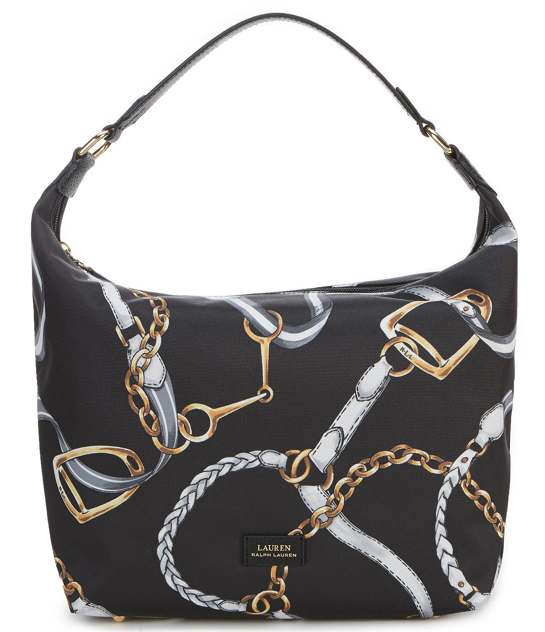 dcd1244a8f Lauren by Ralph Lauren. Women s Black Chadwick Nylon Equestrian Hobo Bag