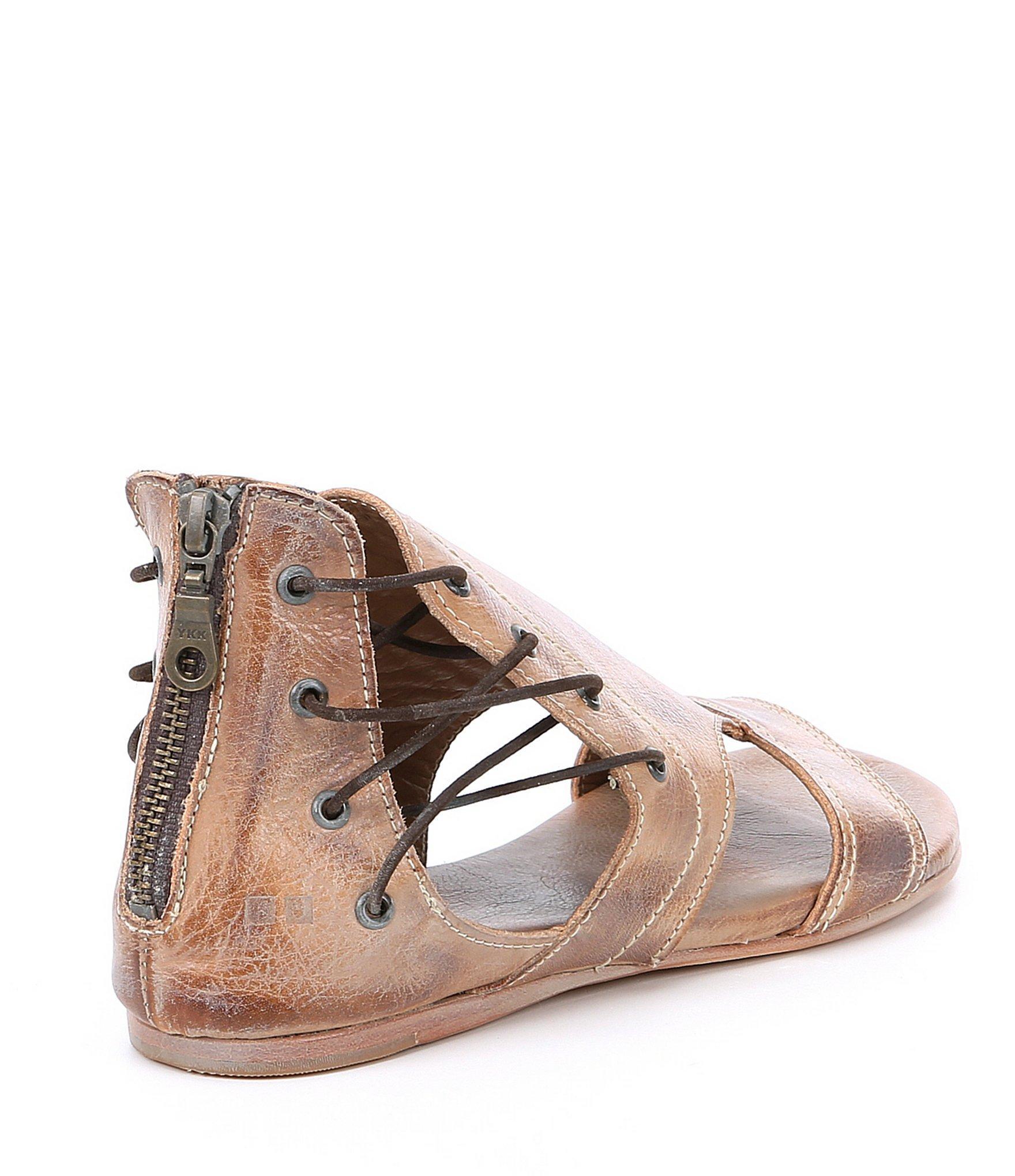 2b9141b2f30b Bed Stu - Brown Sarabi Leather Flat Sandals - Lyst. View fullscreen