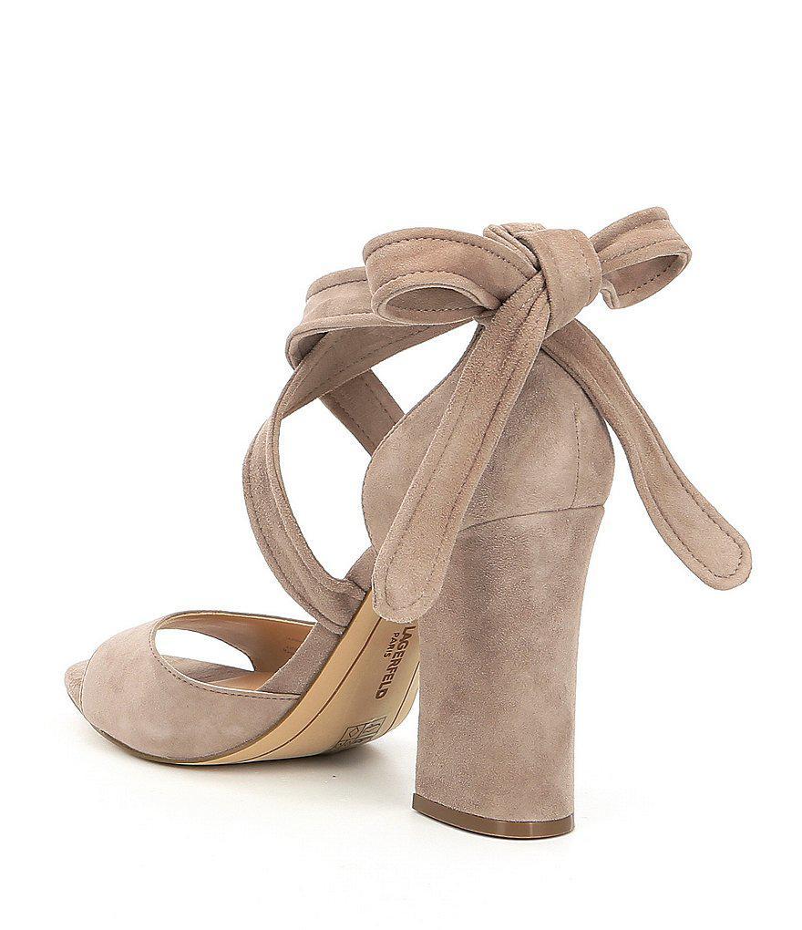 Racha Suede Ankle Tie Block Heel Dress Sandals g5wtW