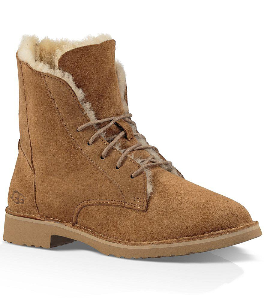 UGG. Women's Brown Quincy Suede Ankle Boots