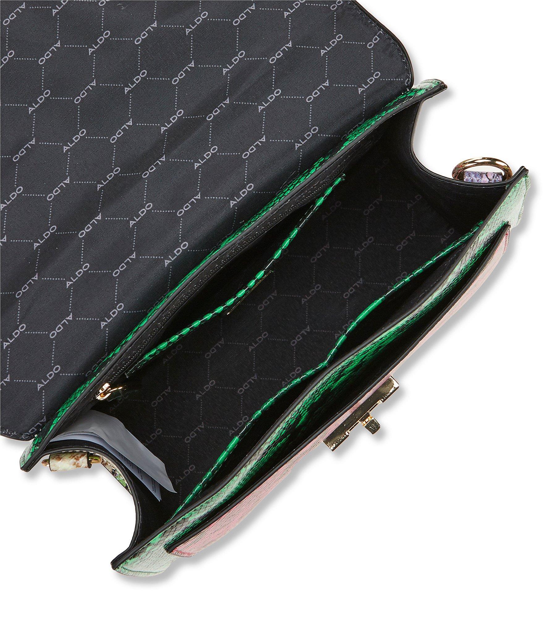 344314a2e35 Lyst - ALDO Snake  glendaa  Print Shoulder Bag With Scarf