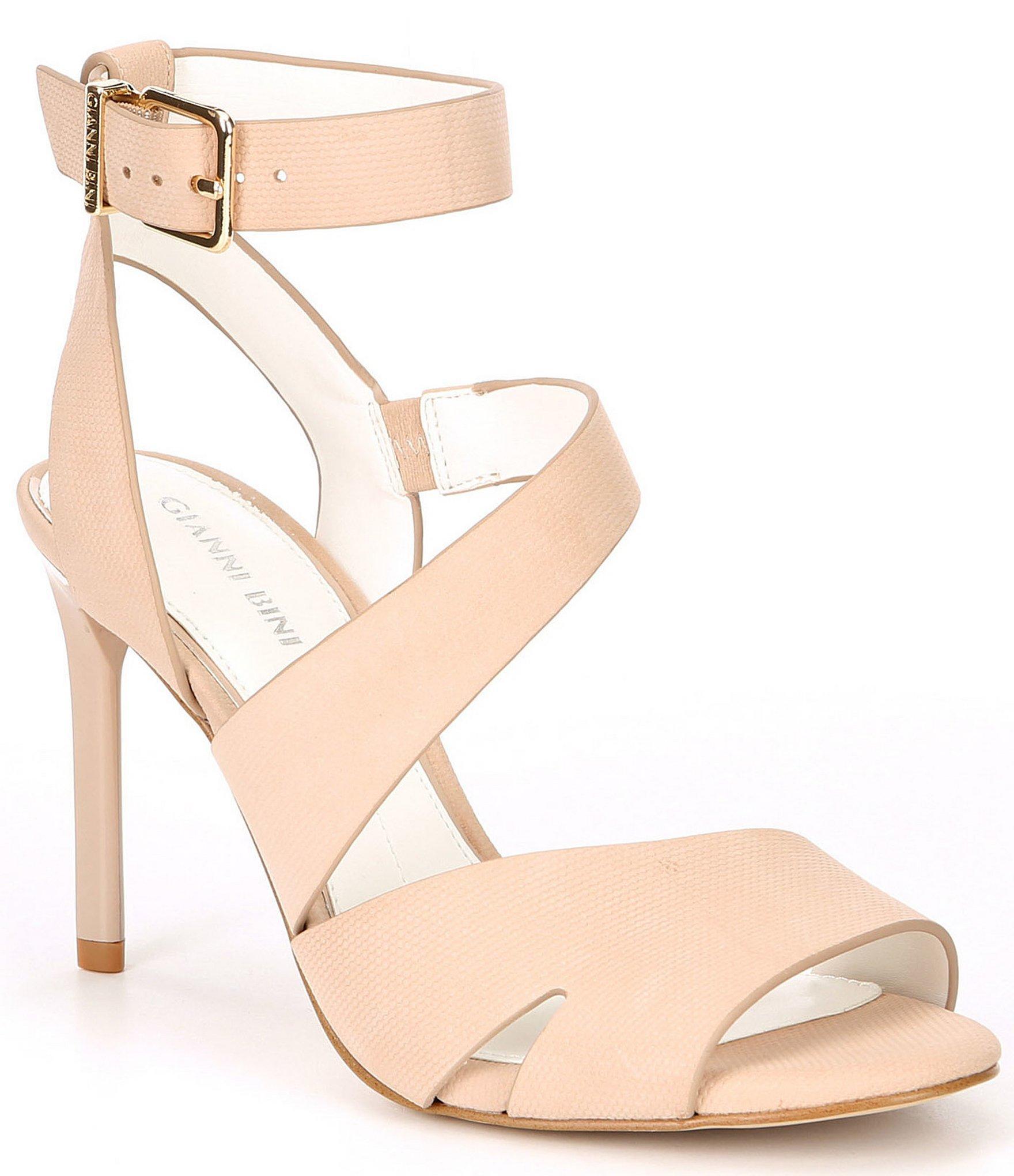 fe0f3ac4419 Lyst - Gianni Bini Adeena Nubuck Asymmetrical Dress Sandals in Natural