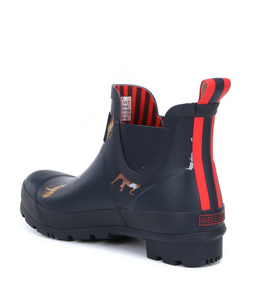 Joules Wellibob Dog Print Short Rain Boots bQyBlE26