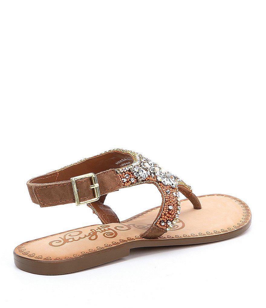 Ice Berg Jeweled Sandals 7S79L