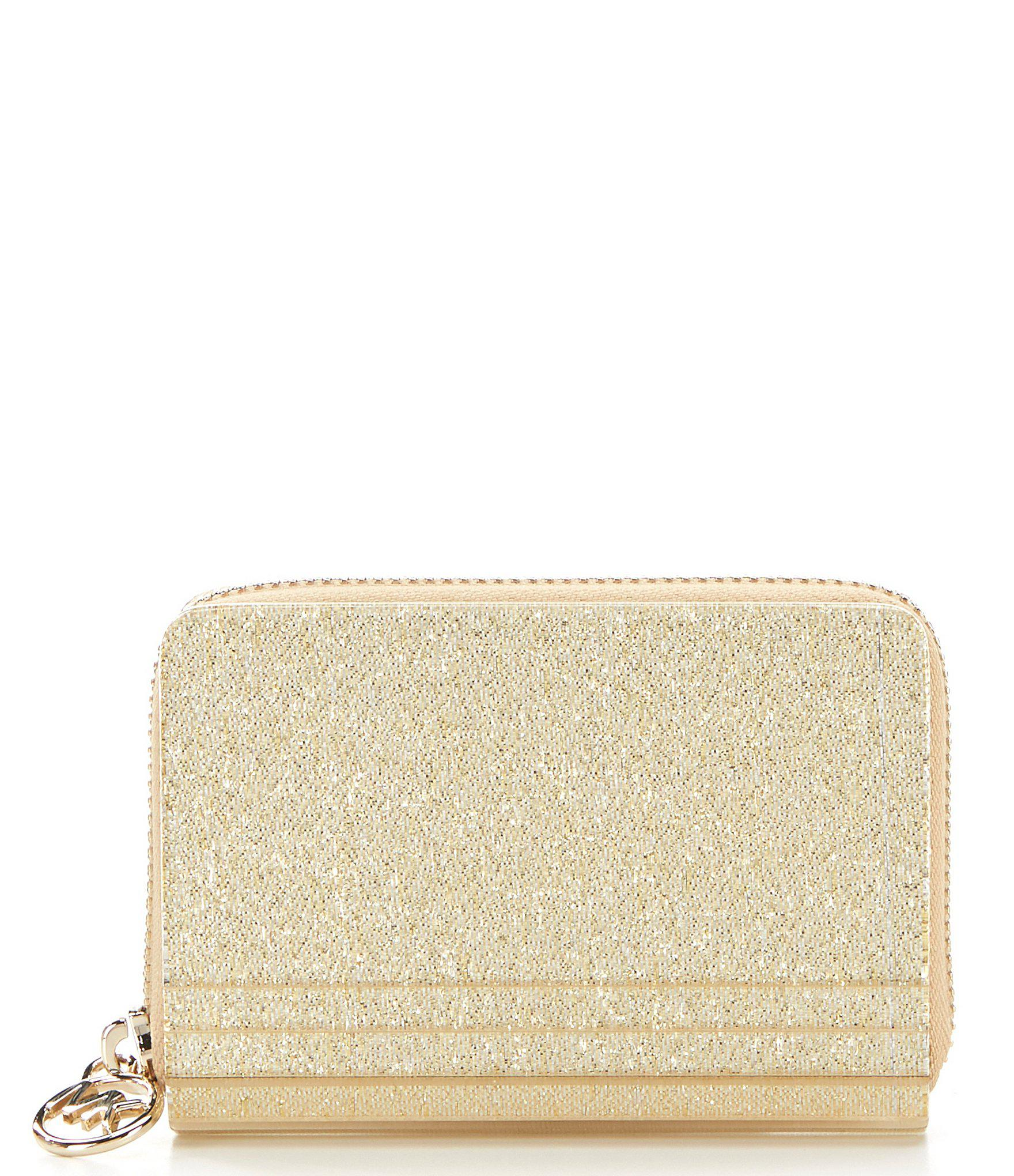 fc2ed81f5673 MICHAEL Michael Kors. Women's Metallic Barbara Zip Around Coin And Card Case