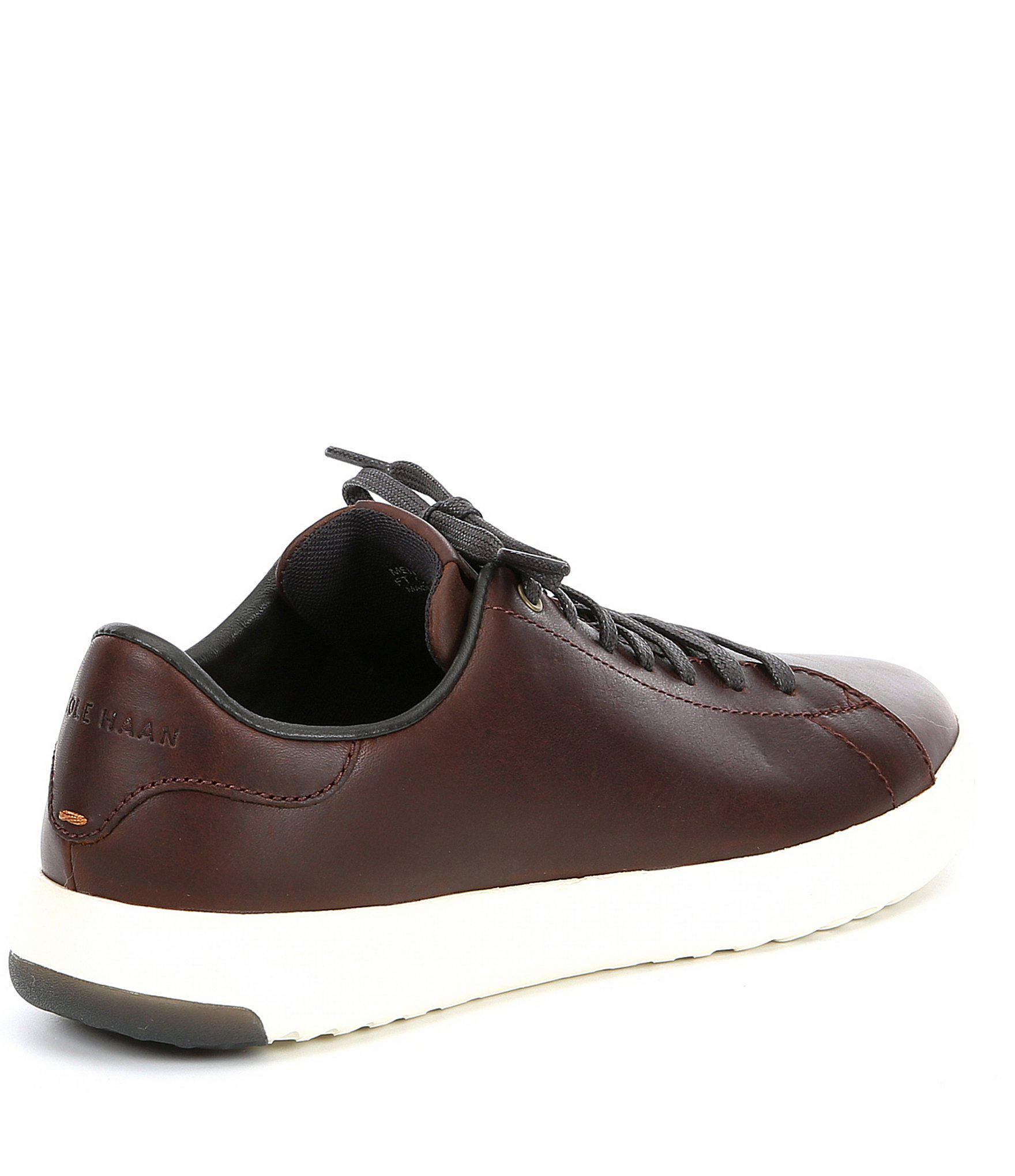 4415f9a155 Cole Haan - Brown Men's Grandpro Leather Tennis Shoe for Men - Lyst. View  fullscreen