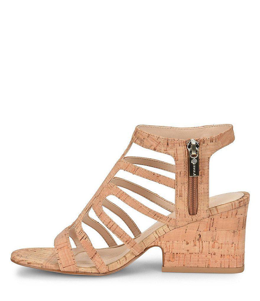 Lina Cork Caged Block Heel Sandals 5d4OrX