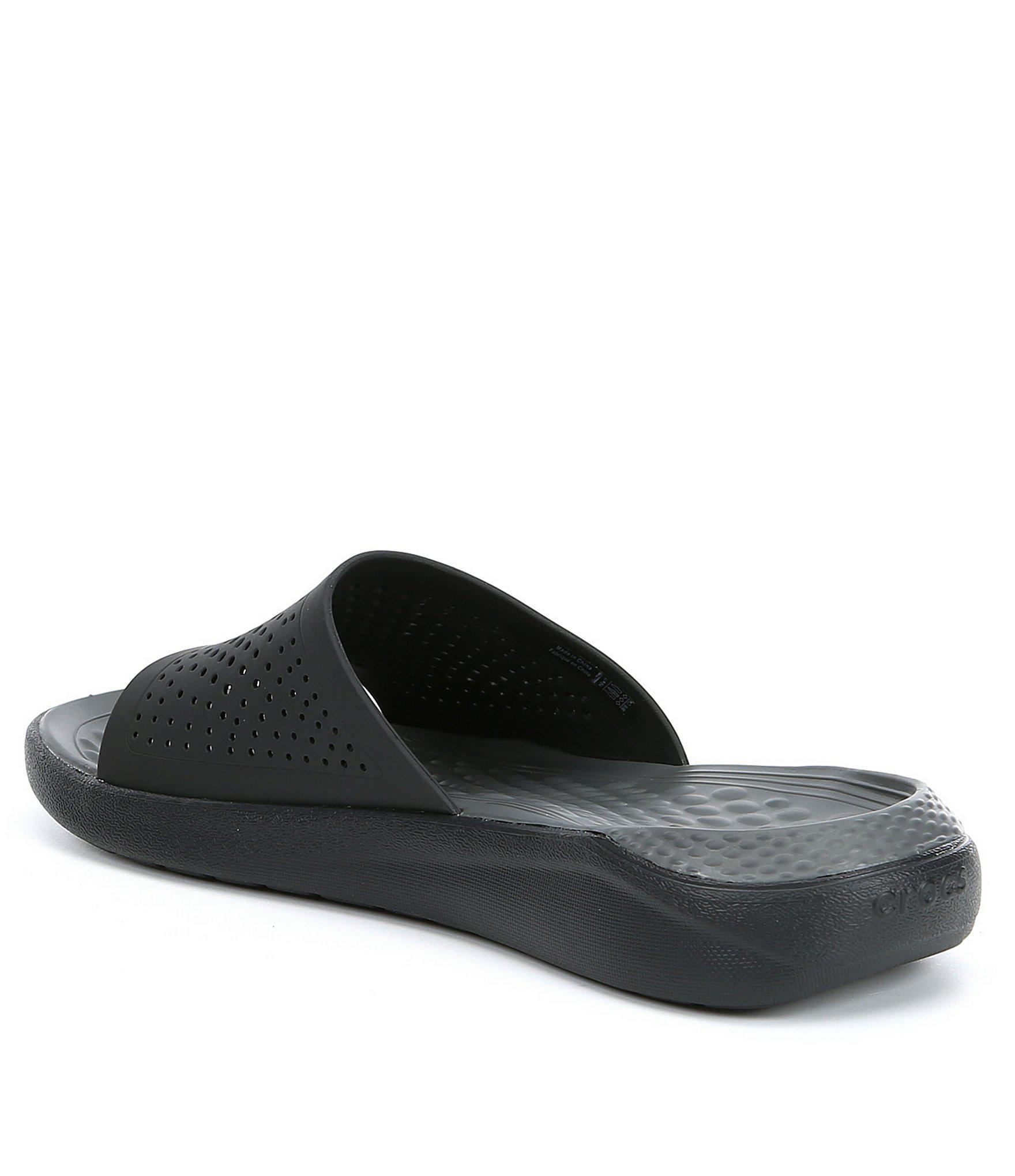 342337982a013 Crocs™ - Black Men s Literide (tm) Slide for Men - Lyst. View fullscreen