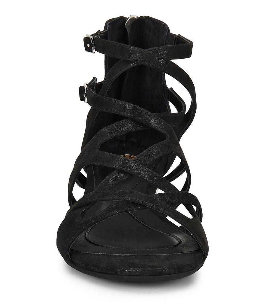 Esmerilda Distressed Foil Suede Sandals pBJaibLeHJ