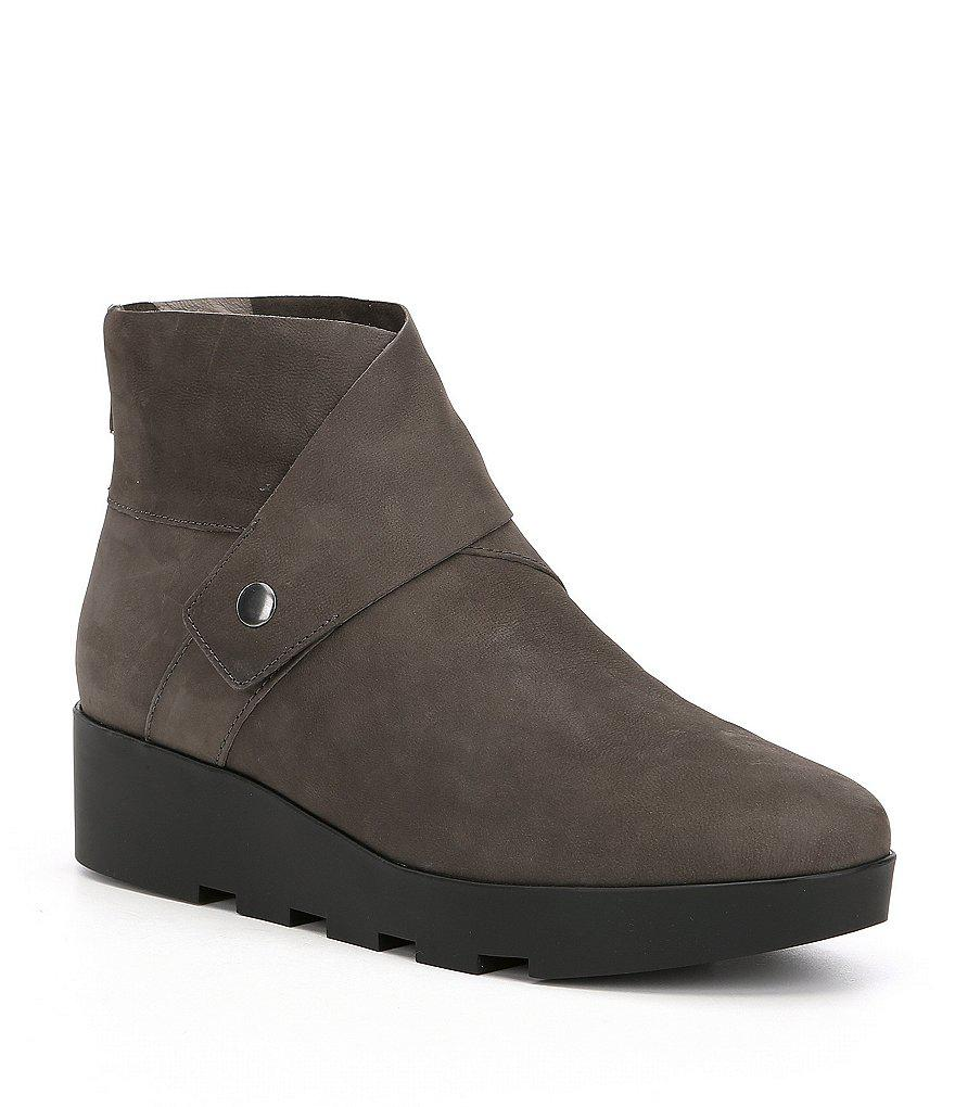 09e81264bc6 Lyst - Eileen Fisher Tread Wedge Booties in Black