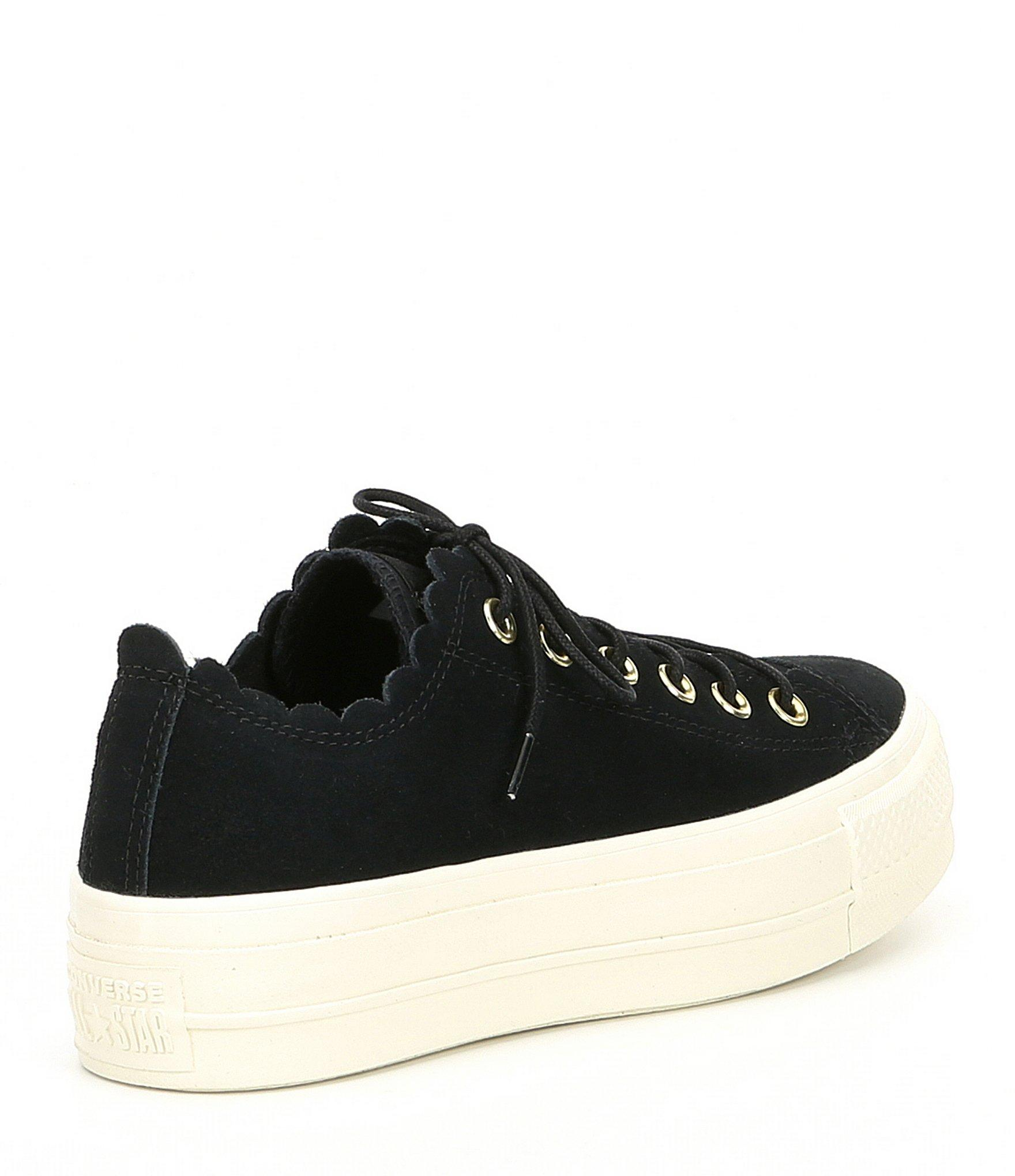 f649827cb660 Converse - Black Women s Chuck Taylor All Star Frilly Thrills Platform  Sneakers - Lyst. View fullscreen