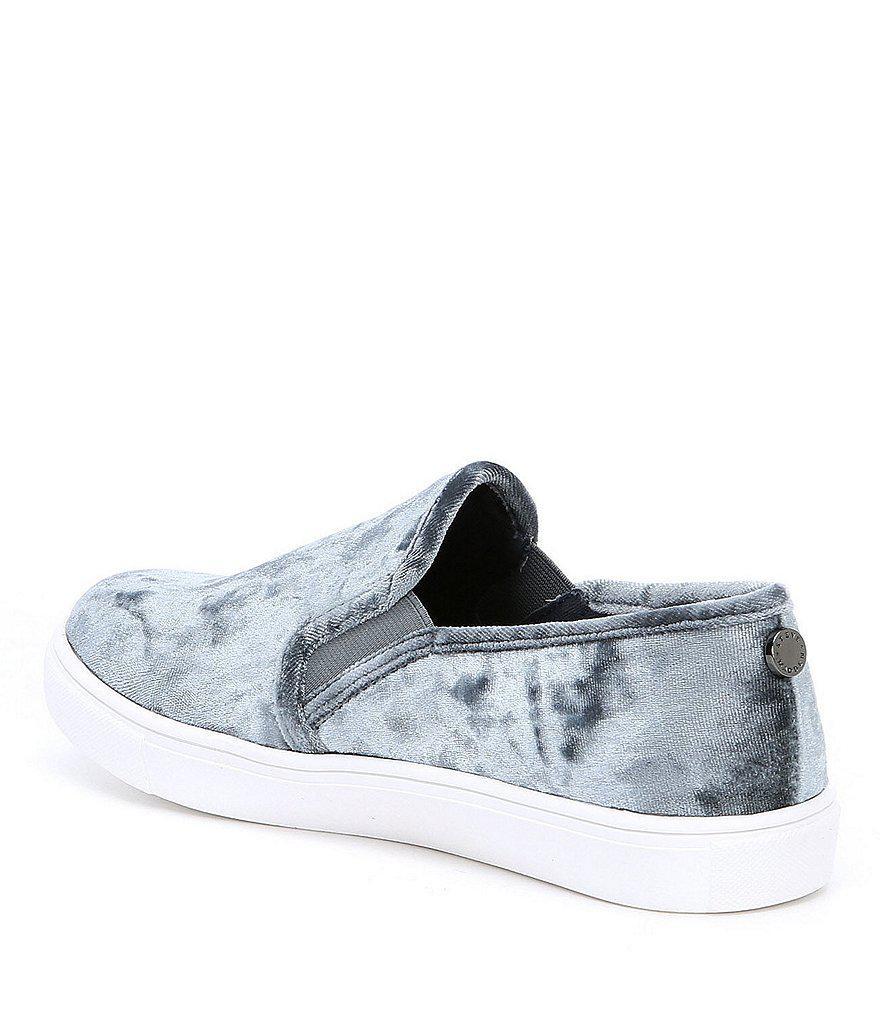 c0e148c5512 Lyst - Steve Madden Ecntrcv Velvet Sneakers in Blue for Men
