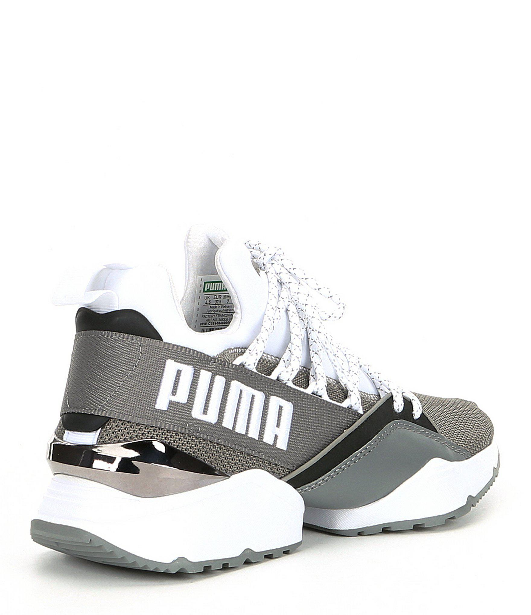 16554a7df16 Lyst - PUMA Women s Muse Maia Sneakers in Gray