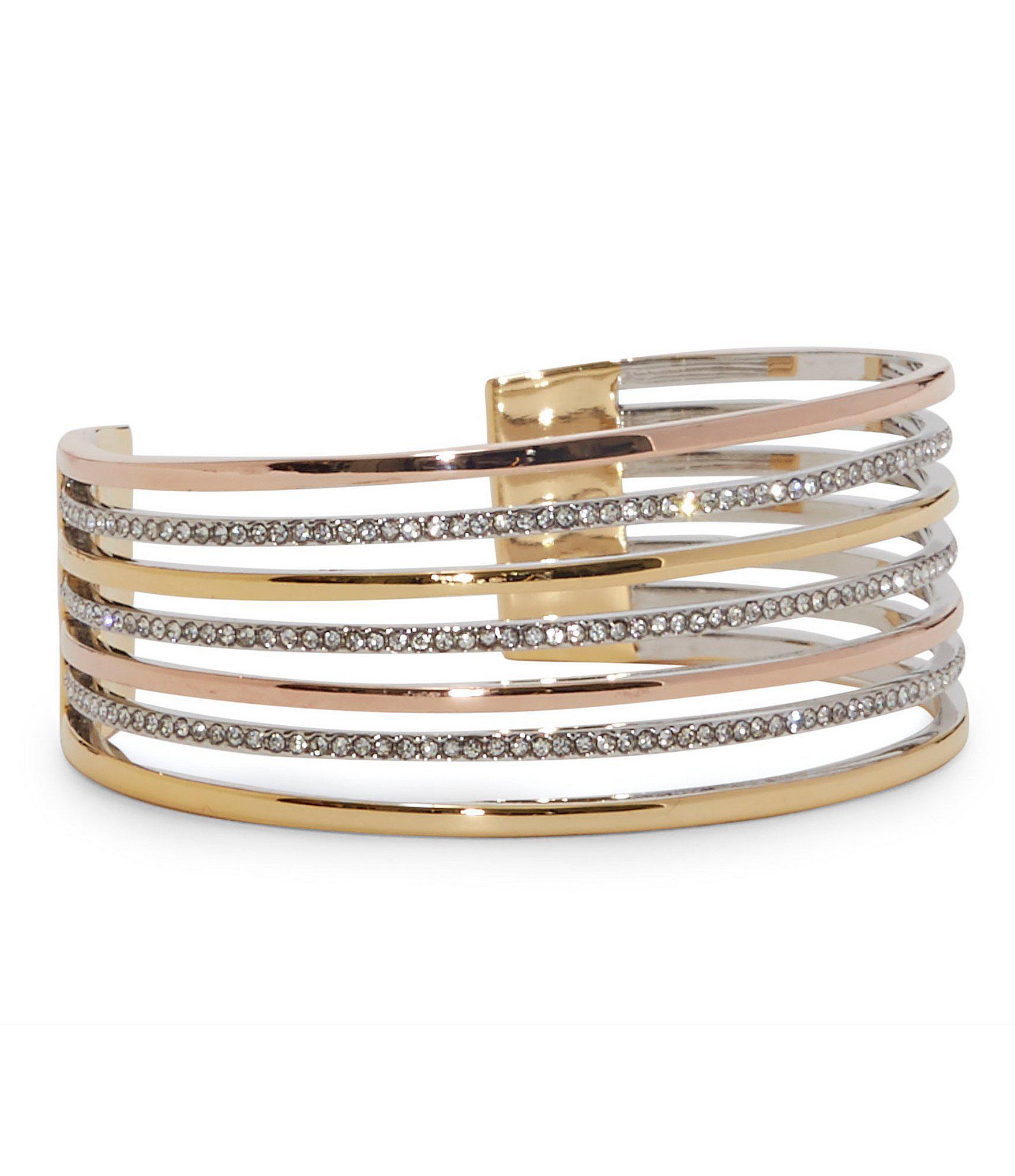Vince Camuto Metallic Cuff Bracelet Lyst View Fullscreen