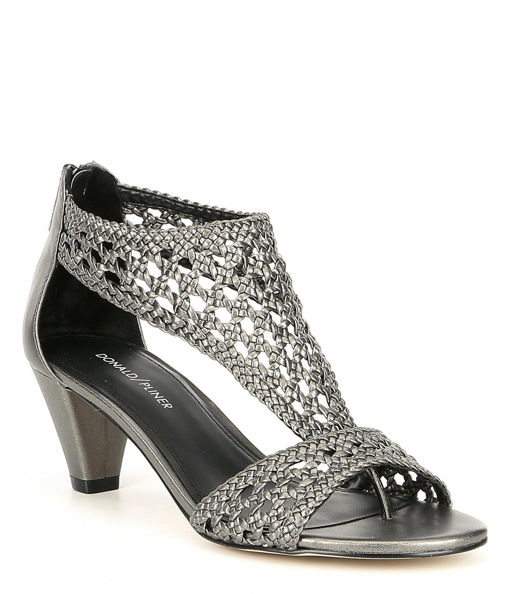 64bae53902d Lyst - Donald J Pliner Verona2 Woven Metallic Leather Dress Sandals