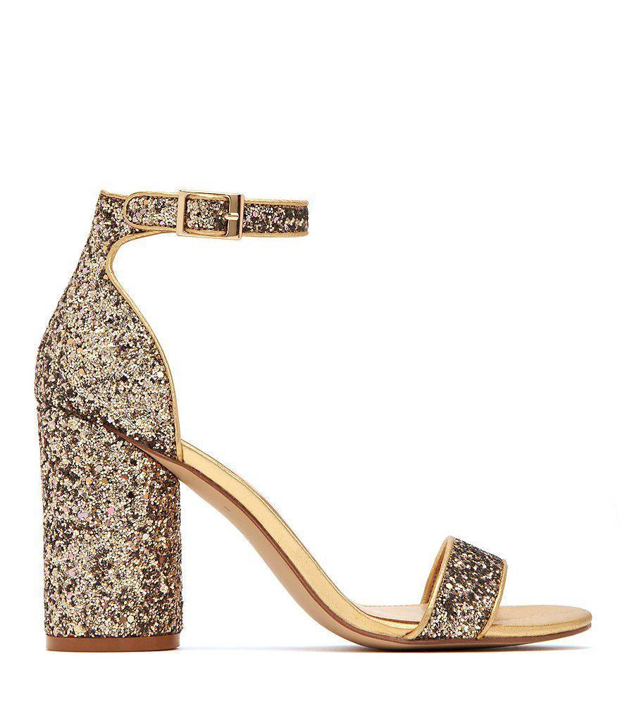 The Clara Chunky Glitter Block Heel Sandals AWndQHLhX