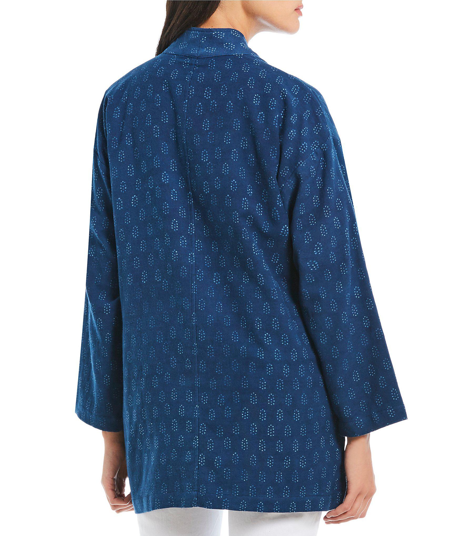 ad017273e6a Eileen Fisher - Blue Petite Size Long Kimono Jacket - Lyst. View fullscreen