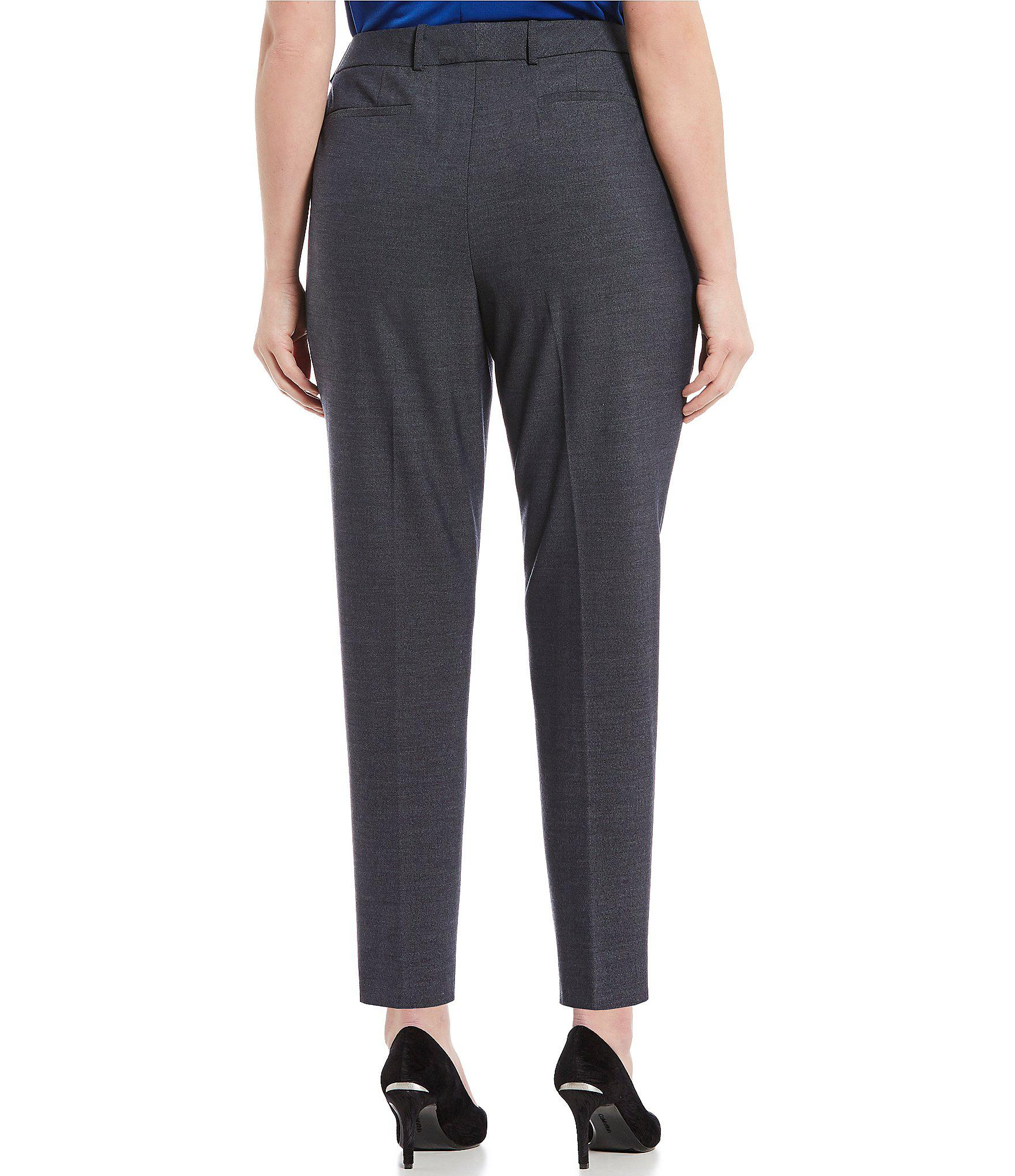 4efb45616c7 Lyst Calvin Klein Plus Size Clic Straight Leg Pant In Blue