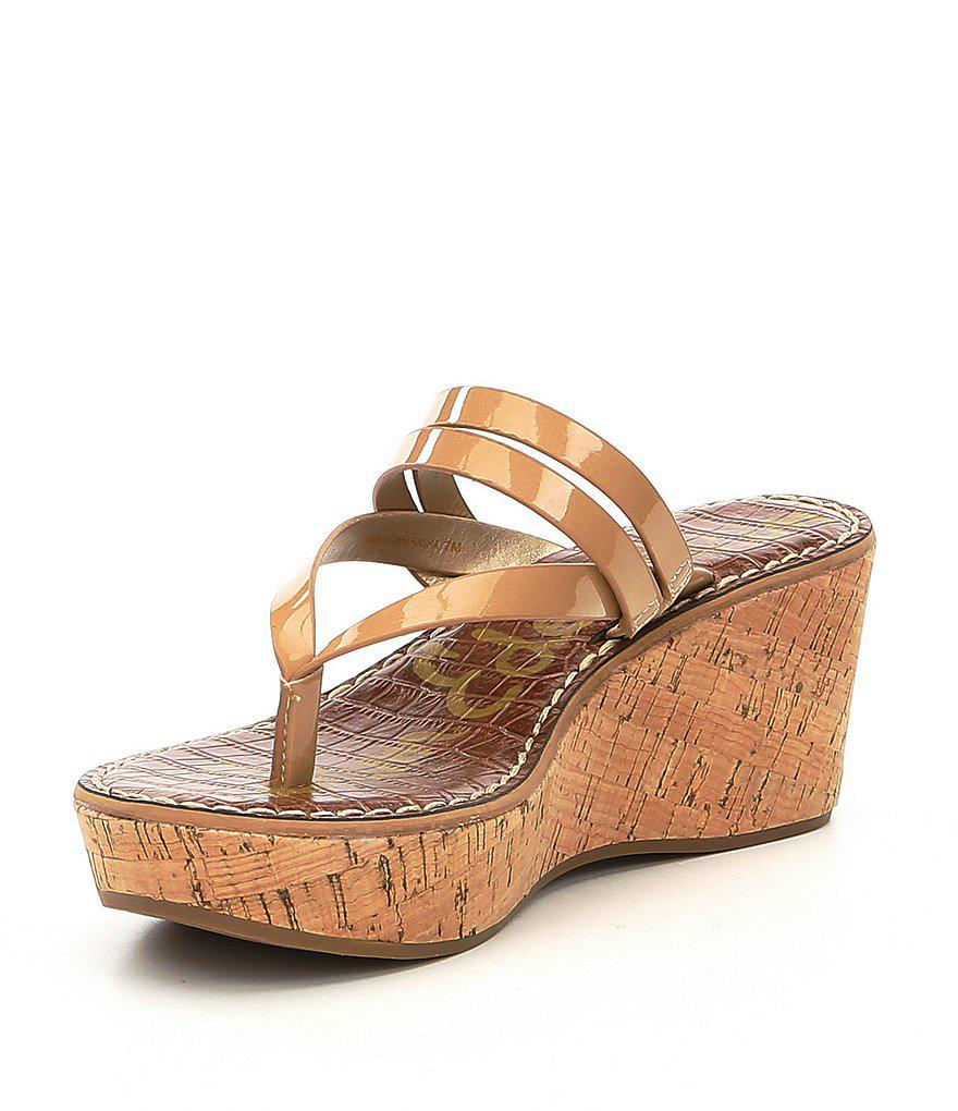 Rasha Leather Thong Wedge Sandals XUO69P9PGY