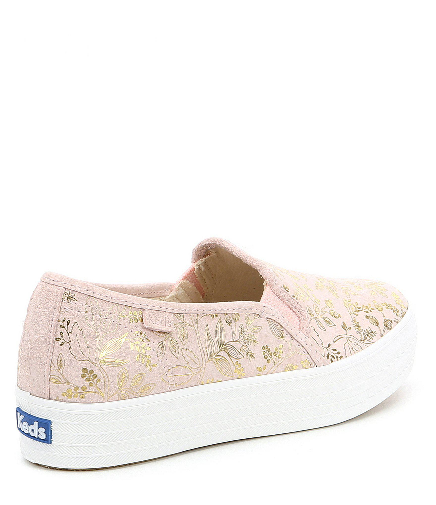 6c6b08fc594b8 Lyst - Keds X Rifle Paper Co. Triple Decker Forest Sneakers in Pink
