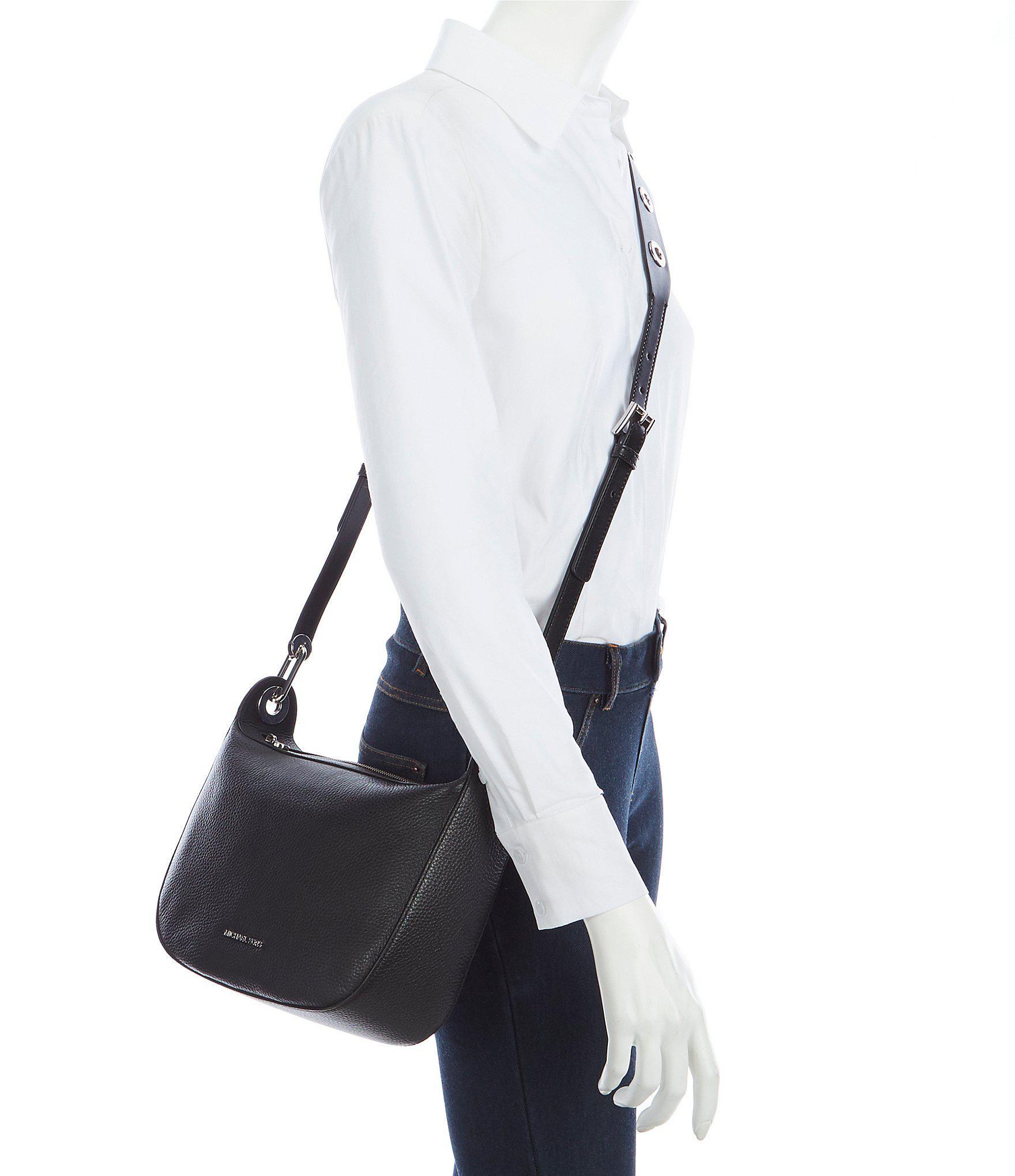 ca1e6fb1518d MICHAEL Michael Kors Barlow Medium Messenger Bag in Black - Lyst