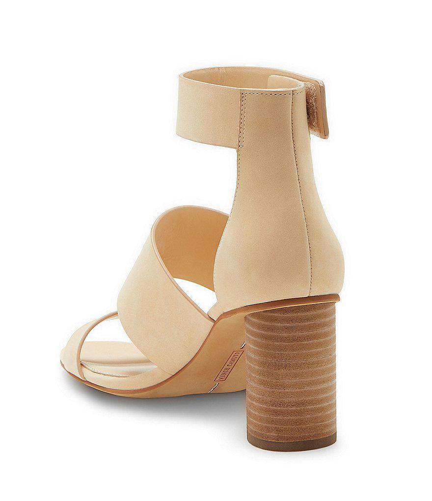 Vince Camuto Junette Nubuck Block Heel Sandals xNDeh7JC5c