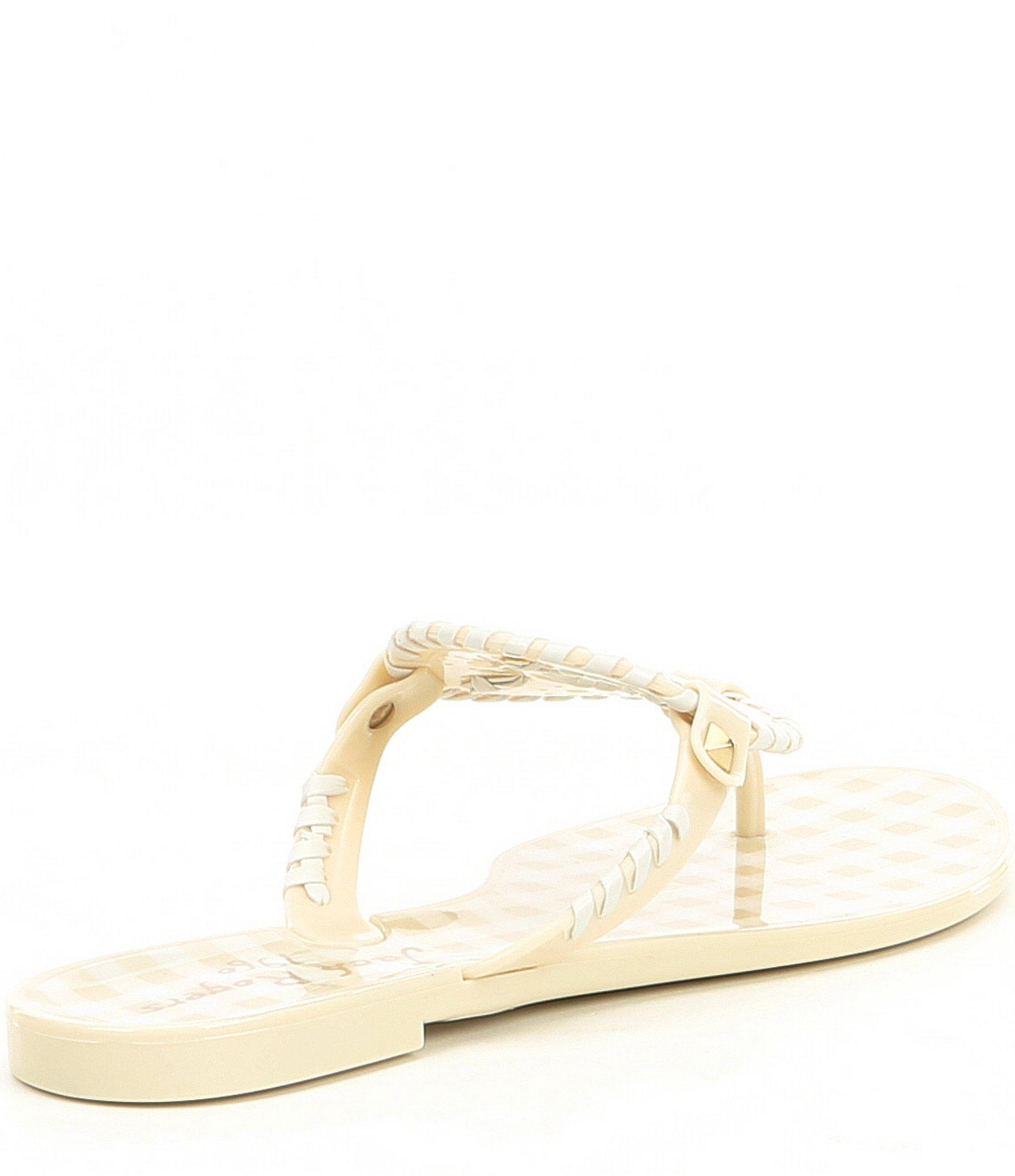 3c5dd2296a70 Jack Rogers - Multicolor Gingham Georgica Jelly Thong Sandals - Lyst. View  fullscreen