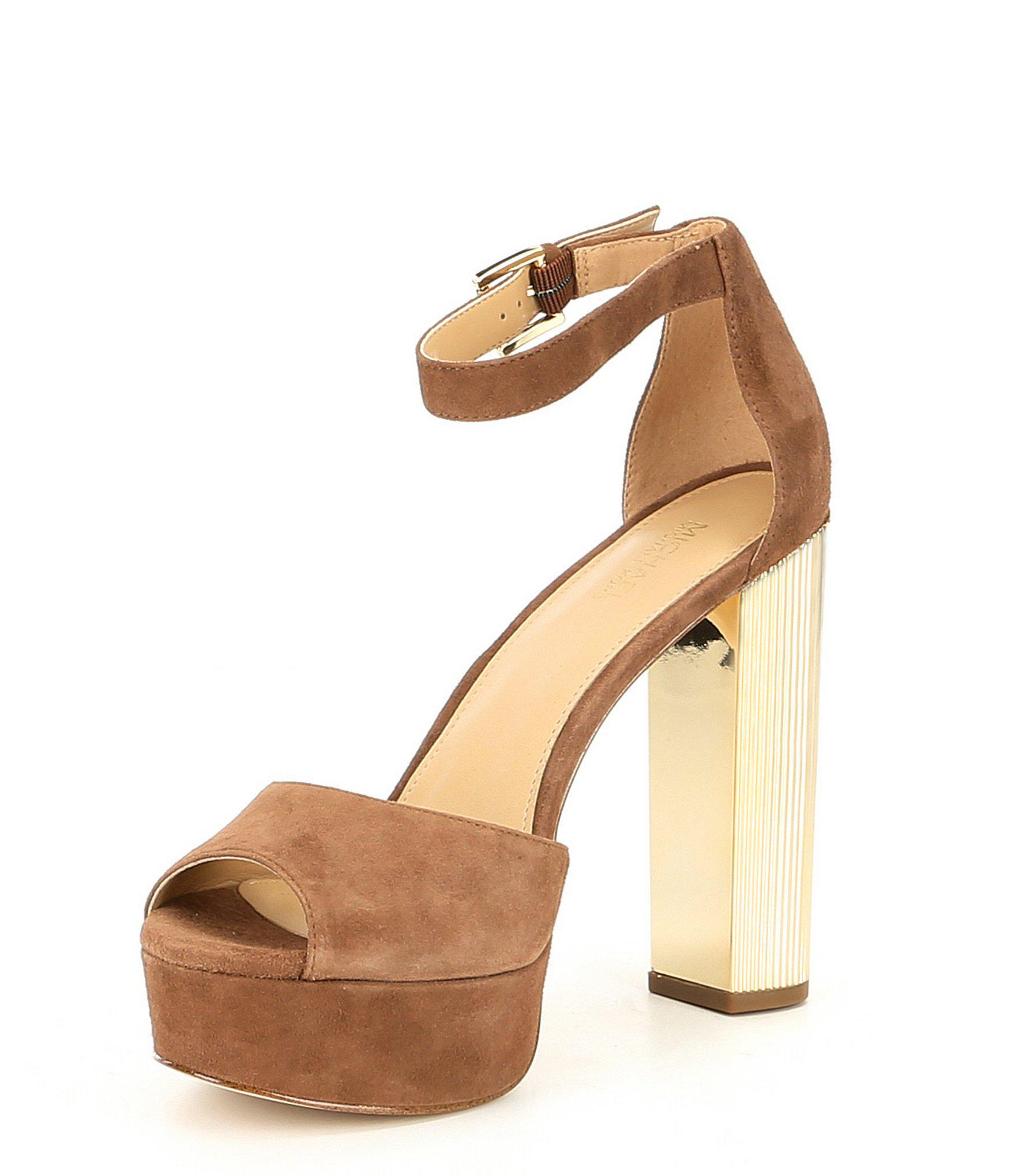 a4ead65dbd9e MICHAEL Michael Kors Paloma Suede Ankle Strap Platform Block Heel ...