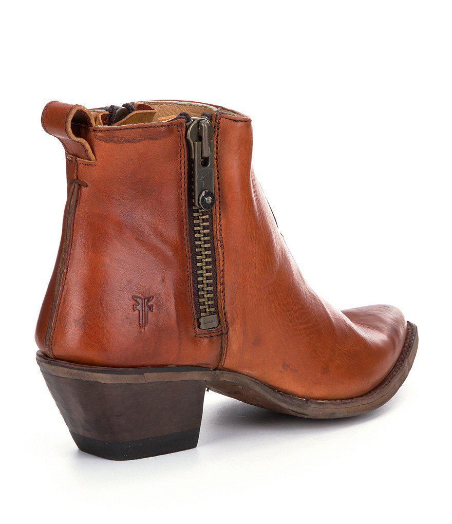 Sacha Moto Short Block Heel Booties PJKkP