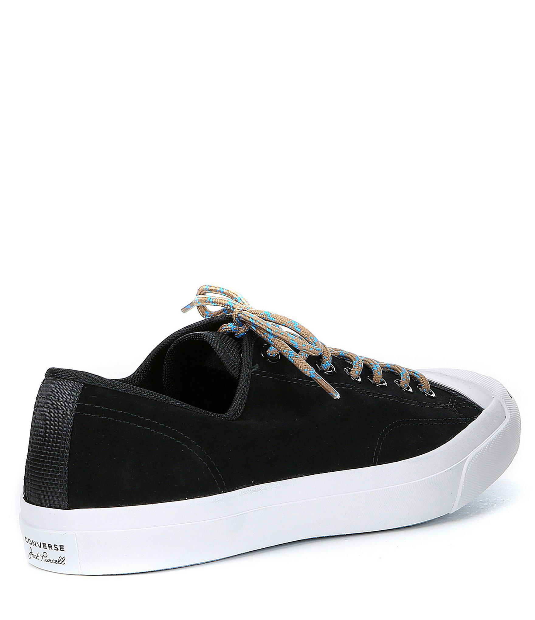 93280619fbdf Converse - Black Men s Jack Purcell Suede Sneaker for Men - Lyst. View  fullscreen