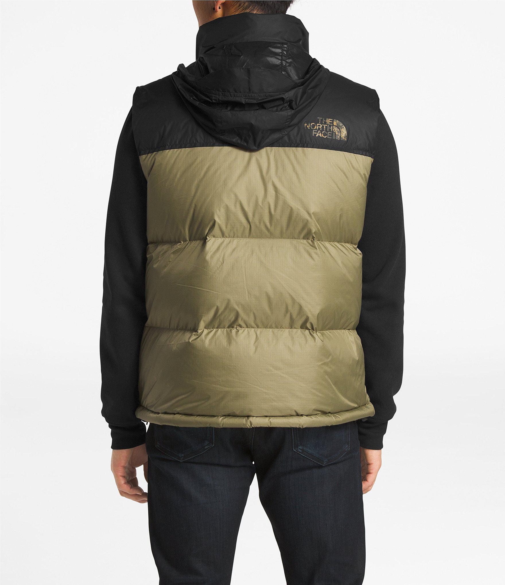 The North Face - Green 1996 Retro Camo Nupste Puffer Down Vest for Men -  Lyst. View fullscreen 434b9a0ca