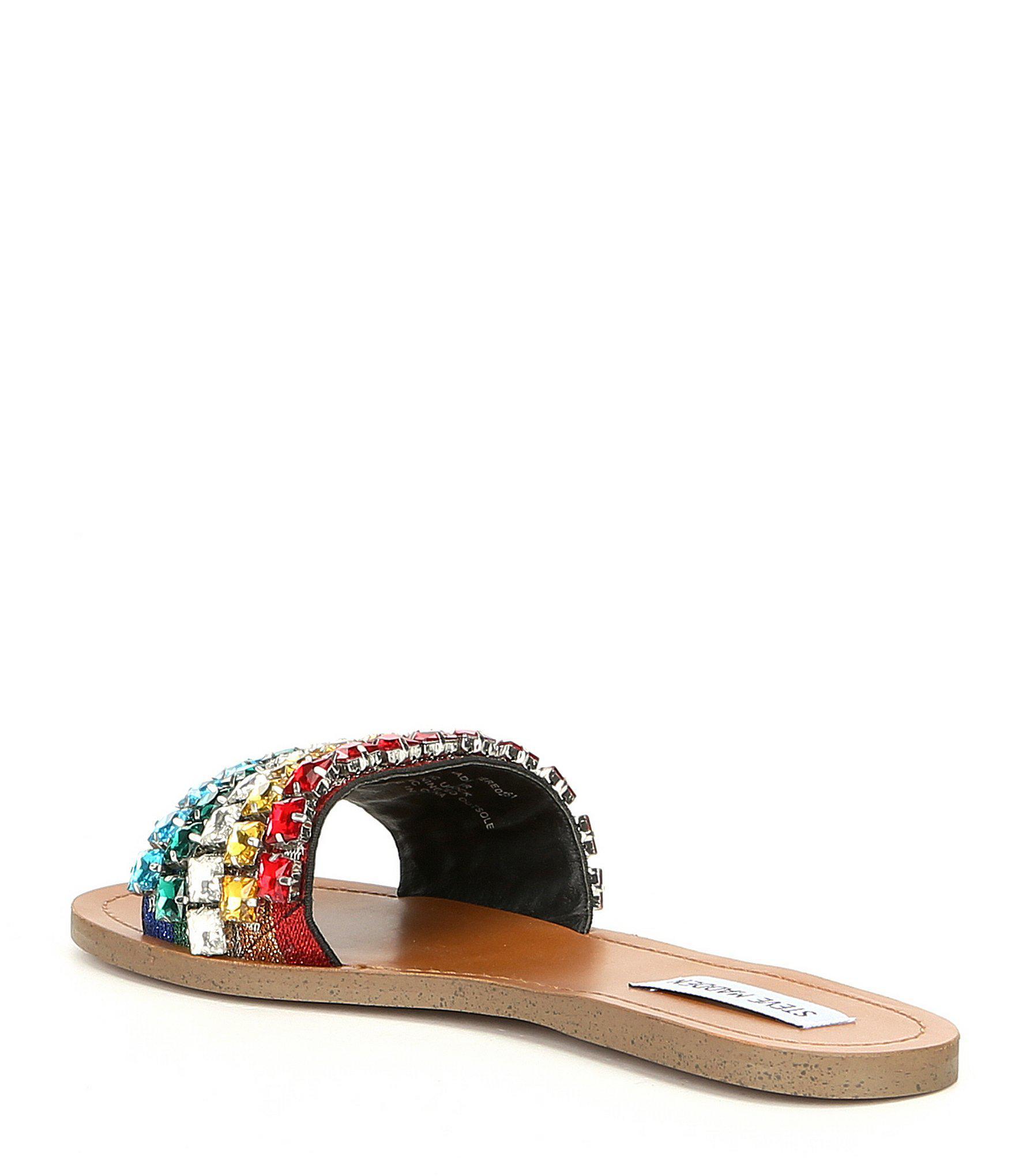 ebaf280385f0 Lyst - Steve Madden Serenade Slip On Rainbow Sandals