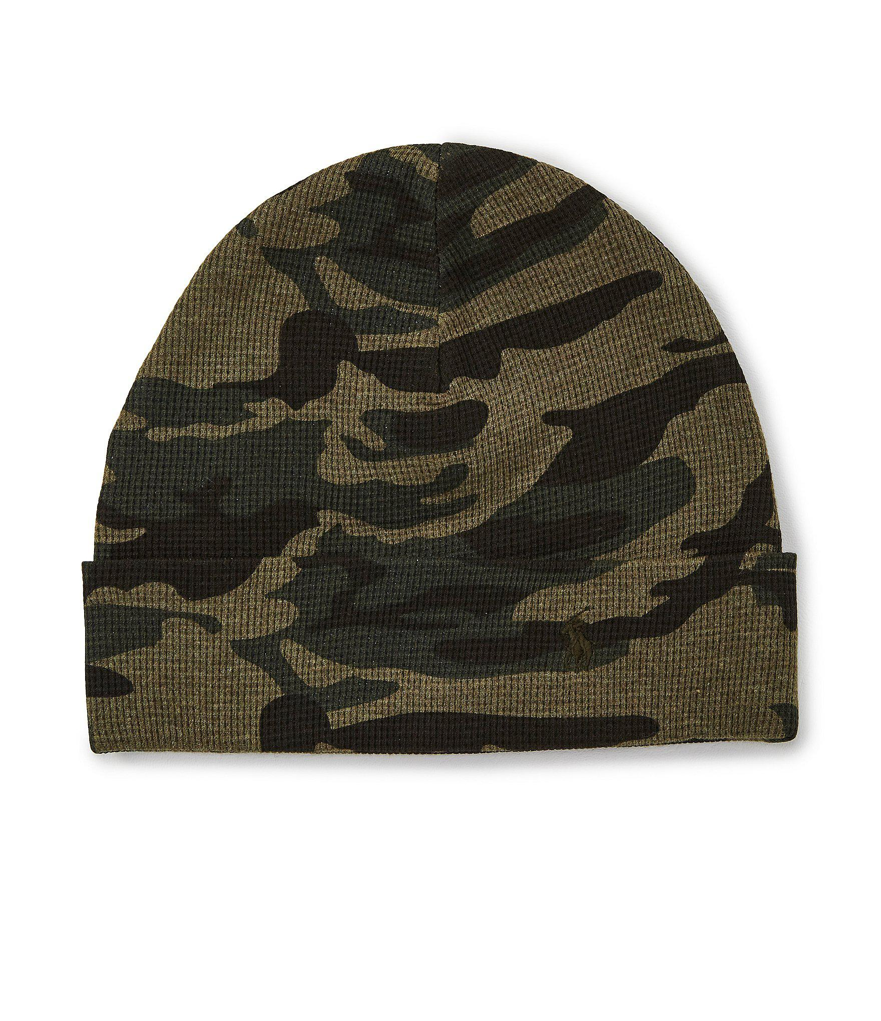 da06f25a Lyst - Polo Ralph Lauren Men's Camo Thermal Cuff Beanie in Green for Men