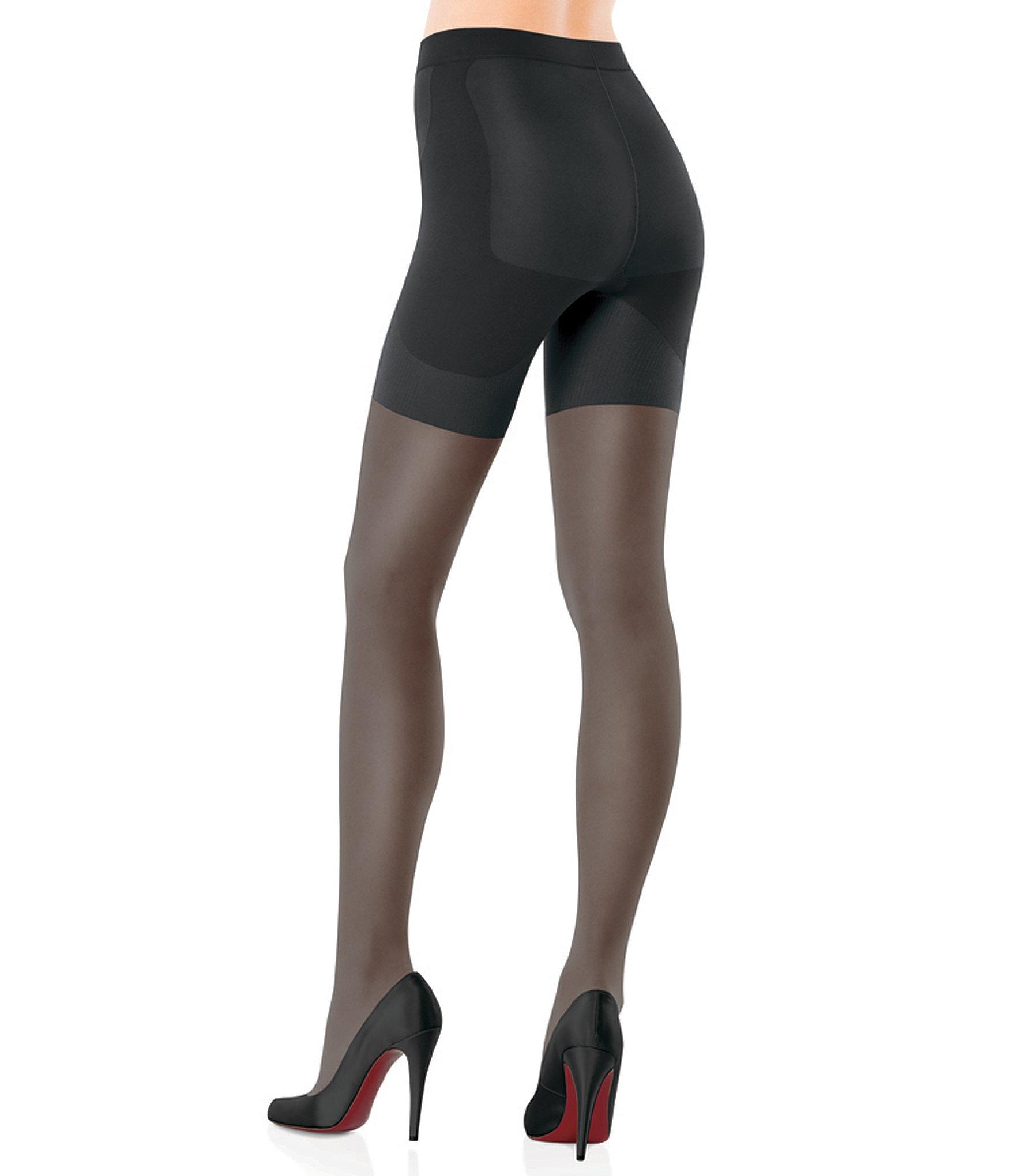 41646983ff2 Lyst - Spanx Booty-full Boosting Reinforced Toe Sheer Pantyhose in Black