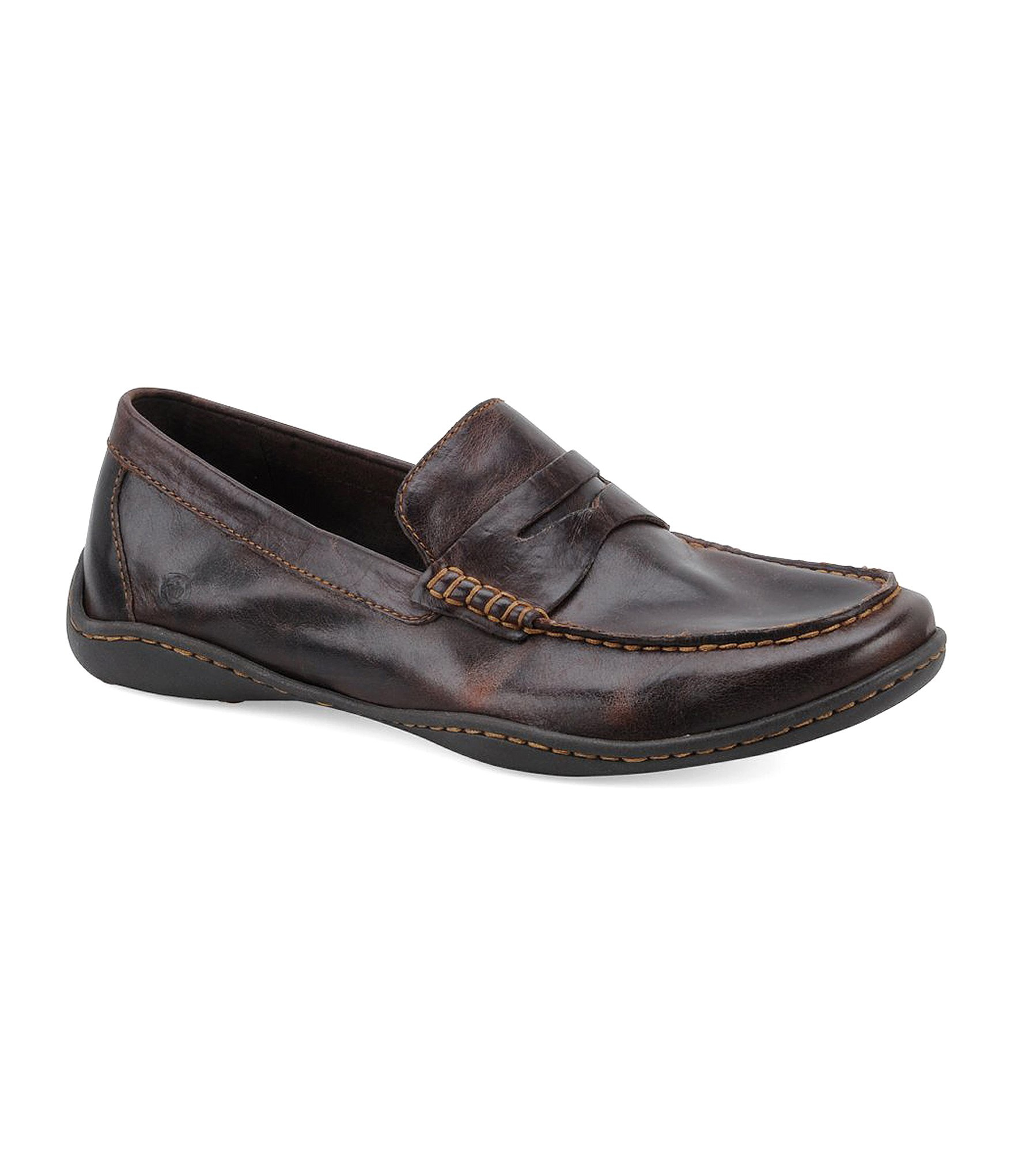 Born Simon Casual Penny Loafers In Brown For Men Lyst