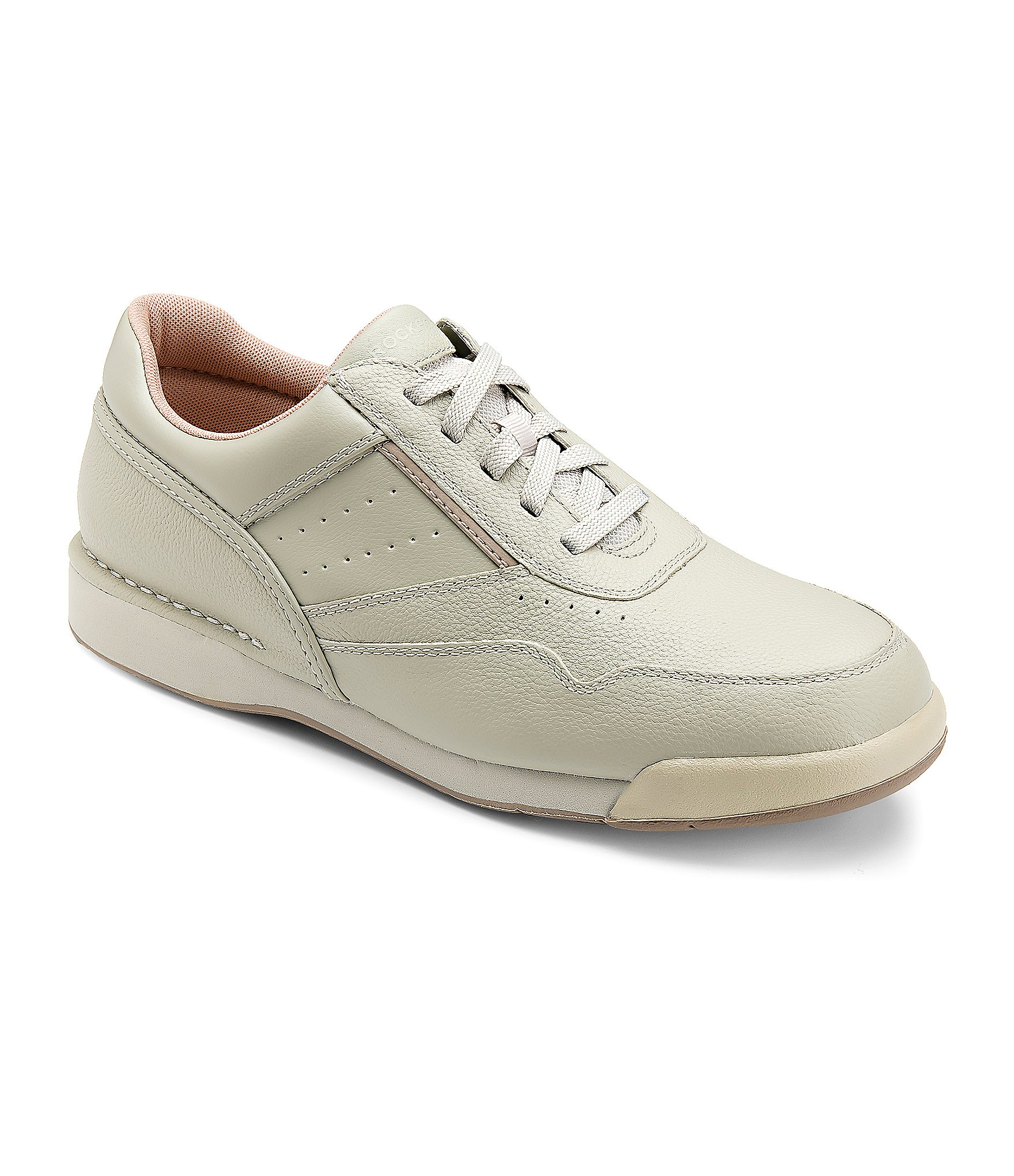 rockport prowalker leather walking shoes in gray for