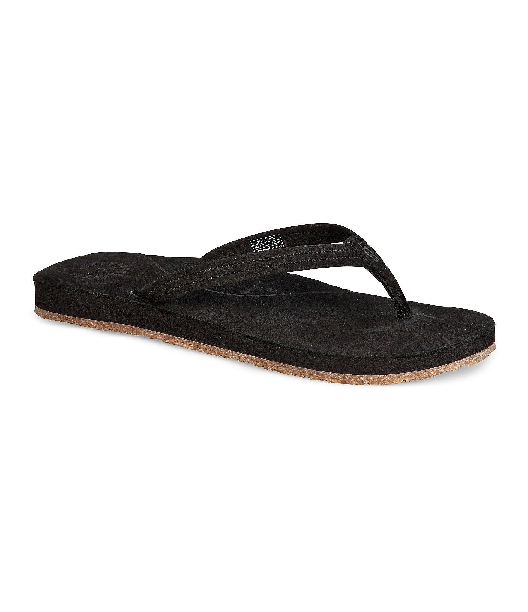 ugg kayla sandals in black save 36 lyst. Black Bedroom Furniture Sets. Home Design Ideas