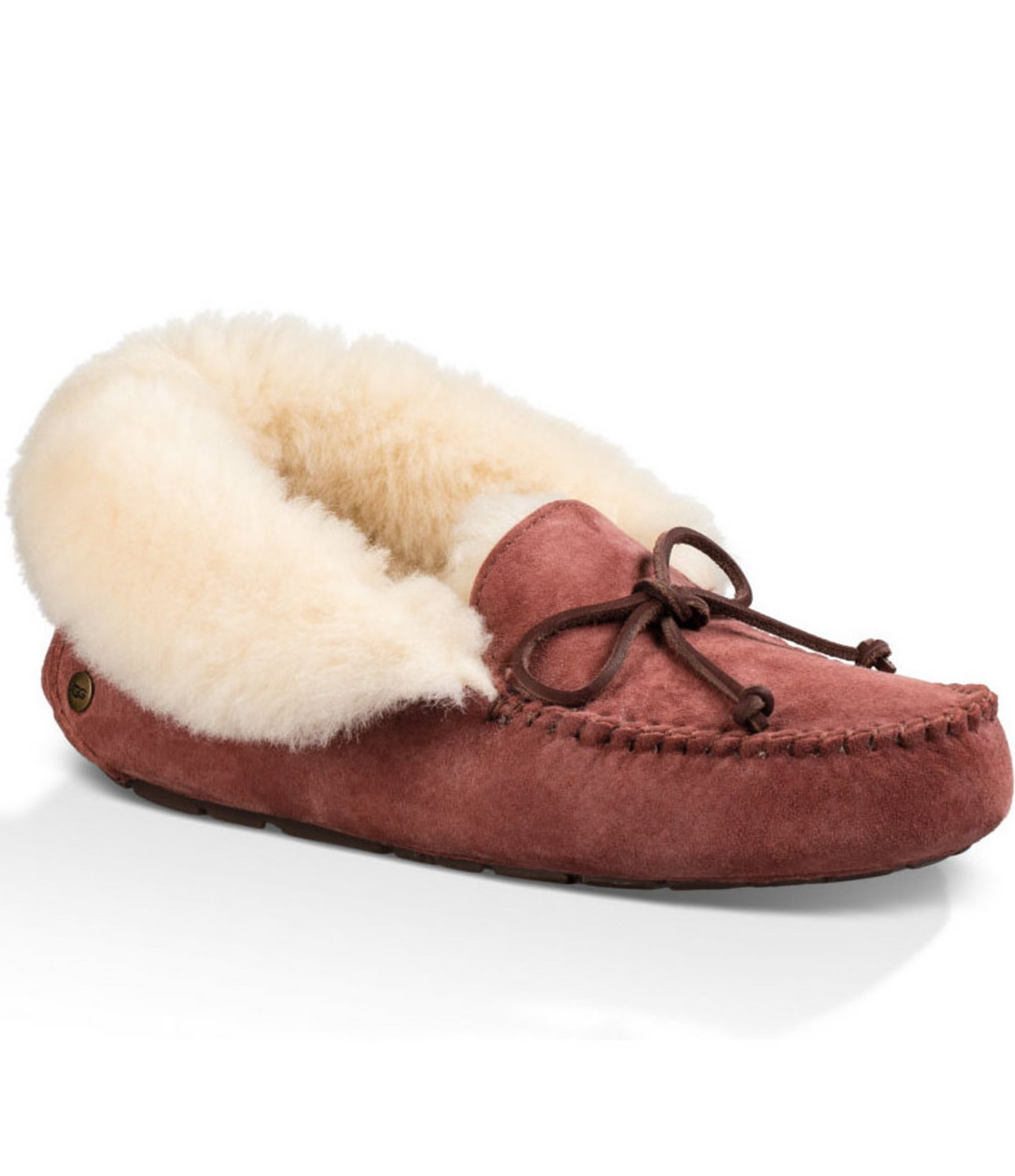 b98d0a2b69aa UGG ® Alena Bow Detail Waterproof Suede Slippers - Lyst