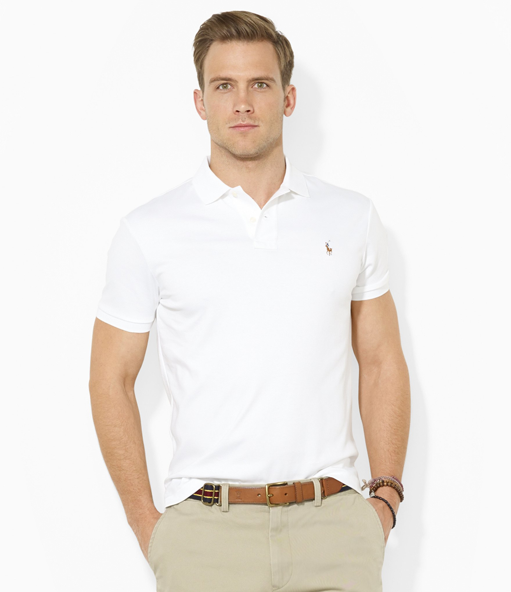 Polo Ralph Lauren | White Classic-fit Pima Soft-touch Polo Shirt for Men. View Fullscreen