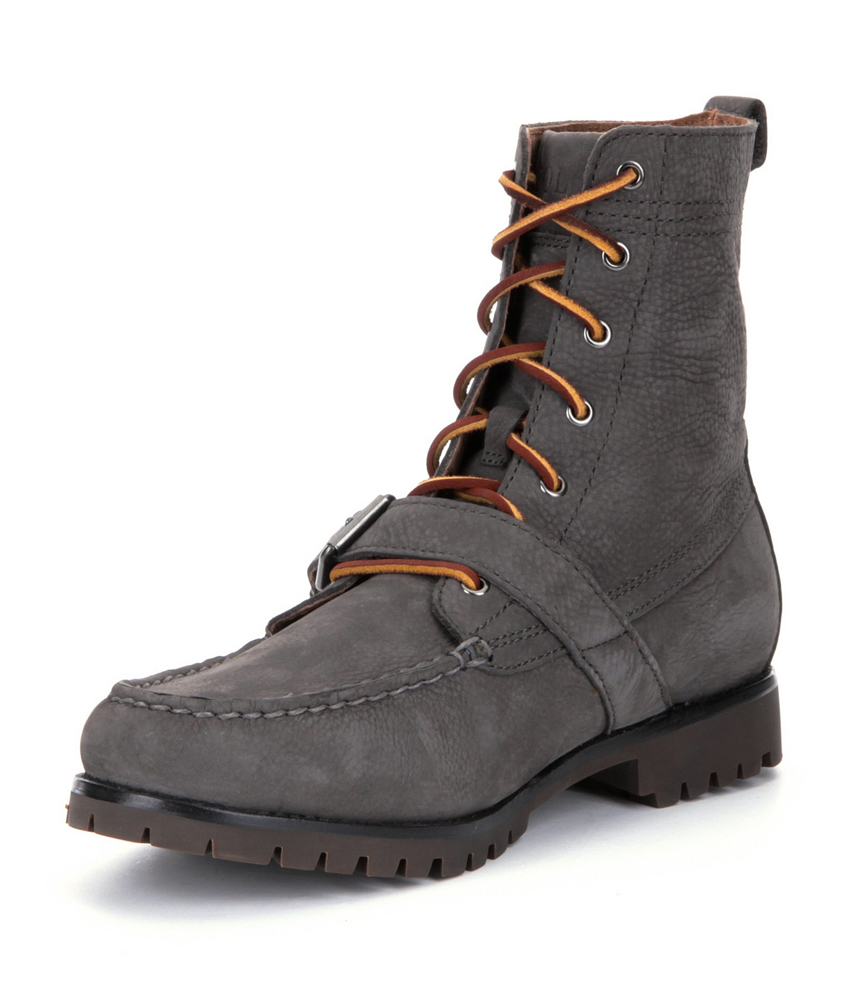 polo ralph ranger boots in gray for lyst