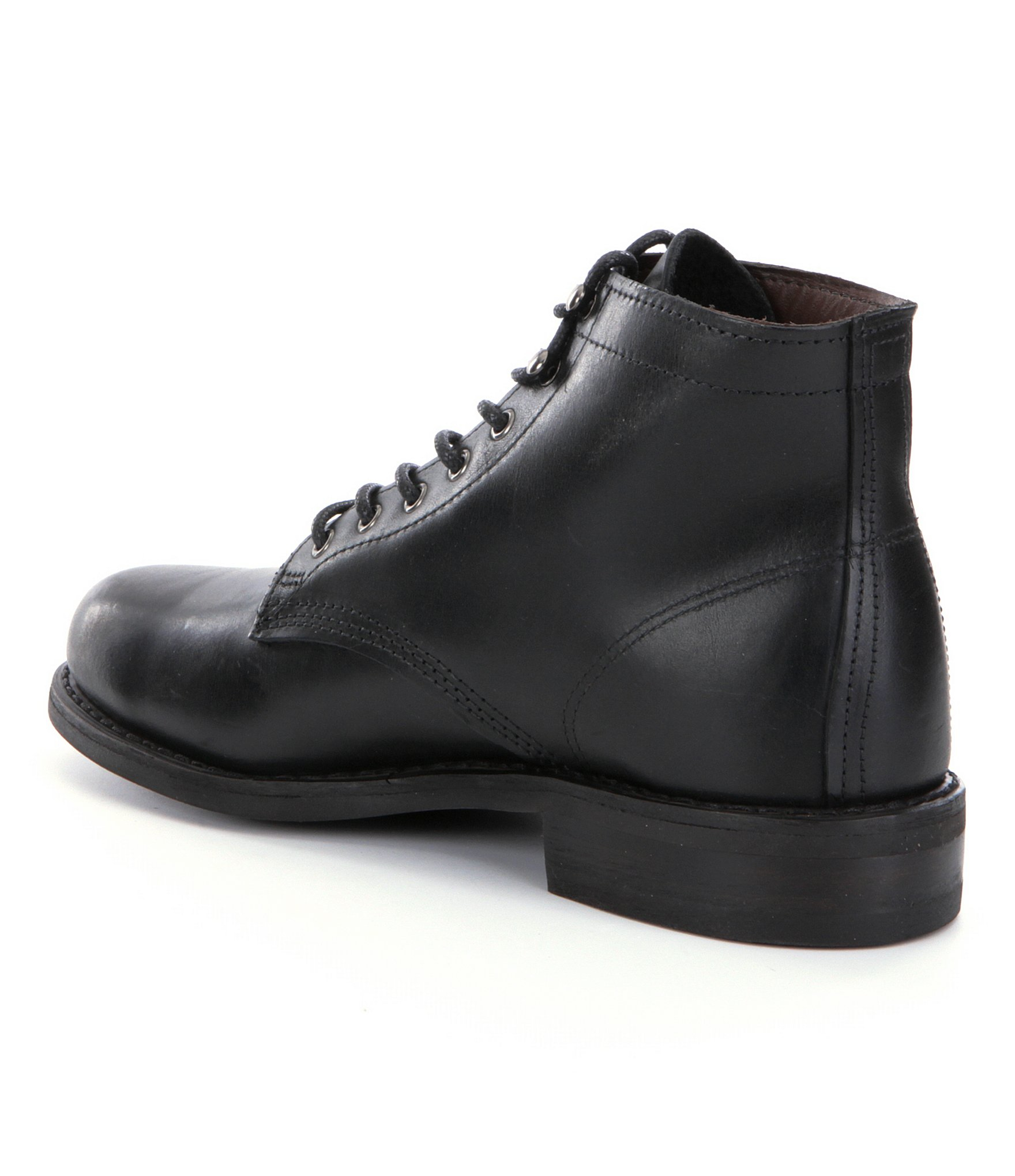 wolverine kilometer leather boots in black for lyst