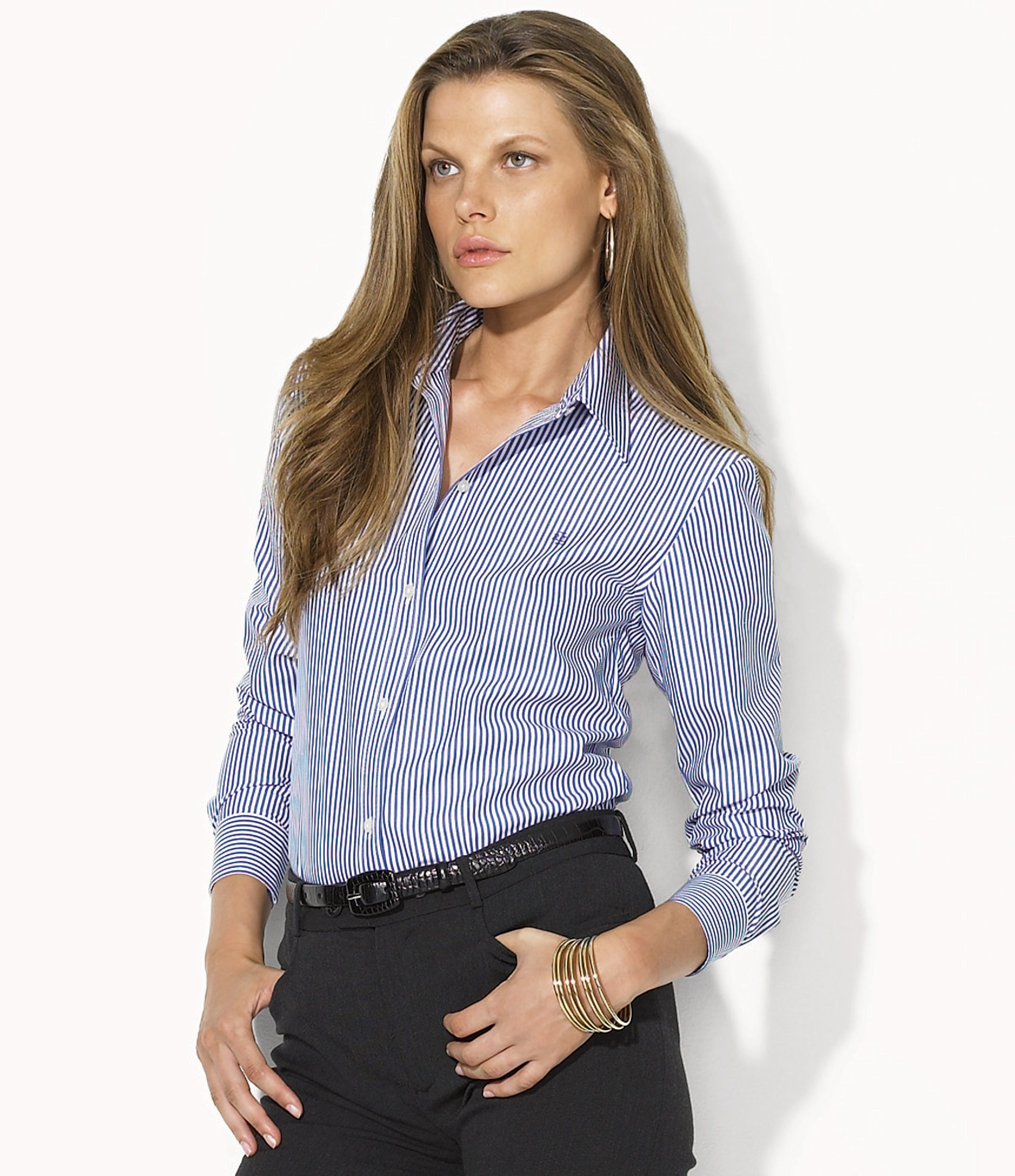 Lauren by ralph lauren petite aaron wrinkle free shirt Wrinkle free shirts for women